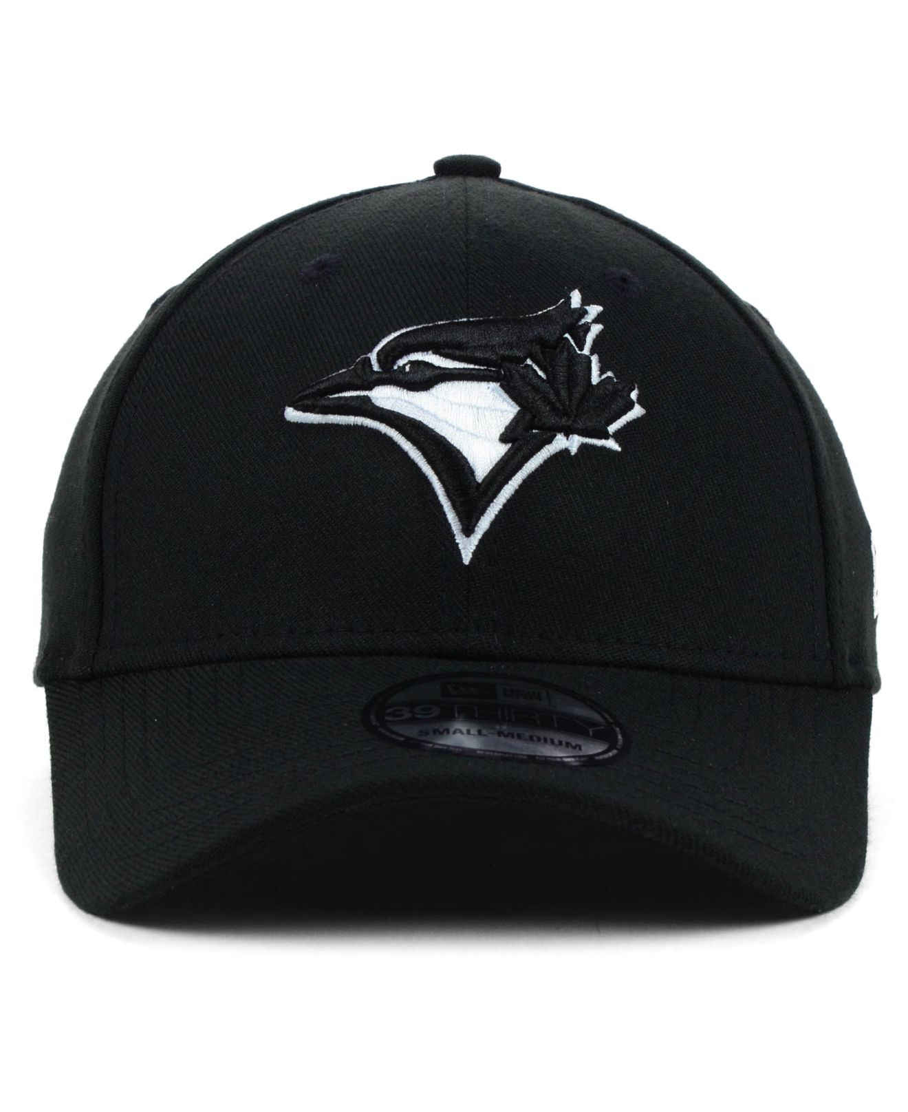 new product decba 10c8a ... cheap lyst ktz toronto blue jays black and white classic 39thirty cap  in bb4ba ace45