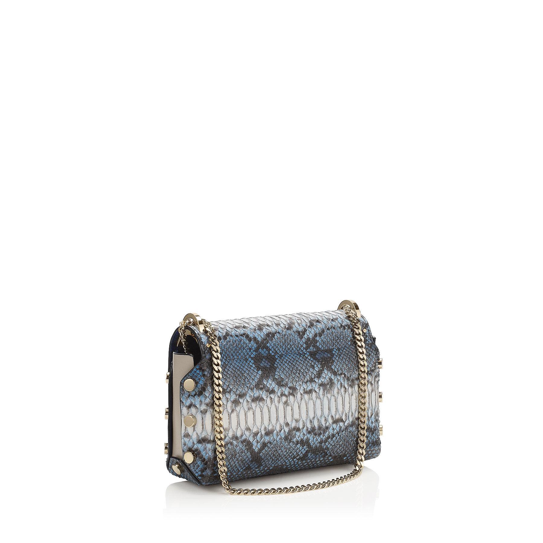 966043d78f6d Lyst - Jimmy Choo  lockett  Shoulder Bag in Blue