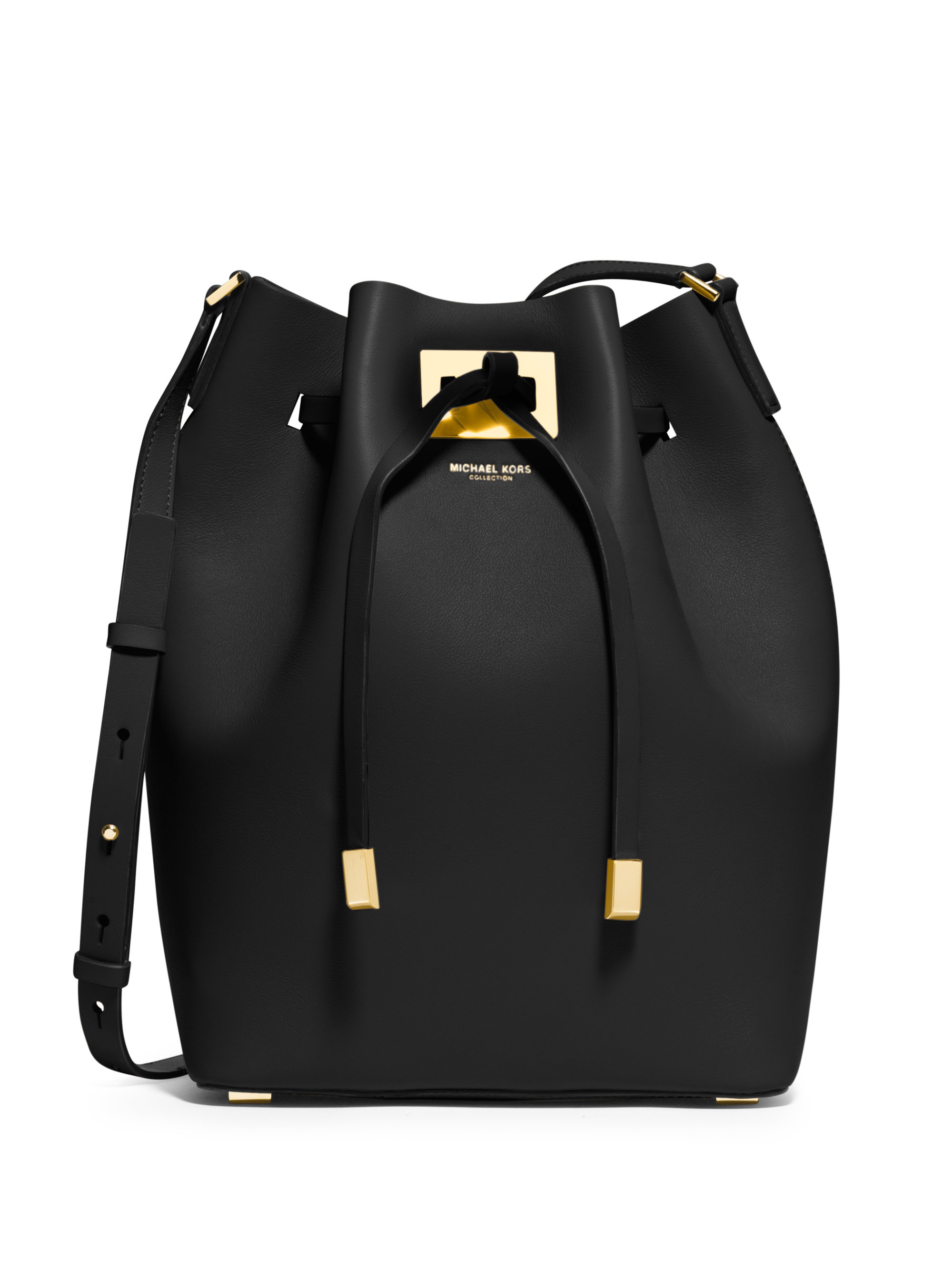 1a3ec97e79 Lyst - Michael Kors Miranda Large Bucket Bag in Black
