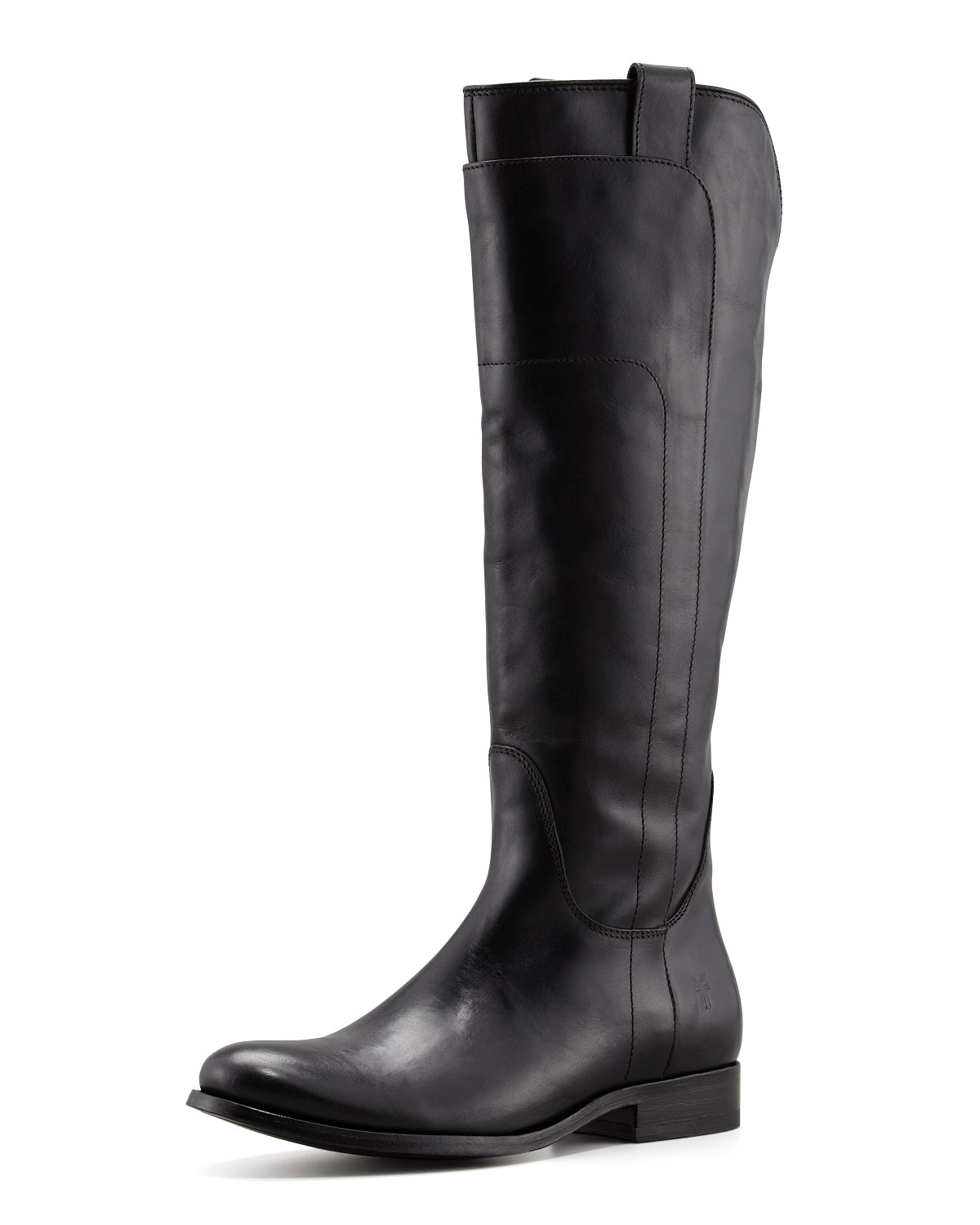 Frye Melissa Tall Leather Riding Boot In Black Lyst
