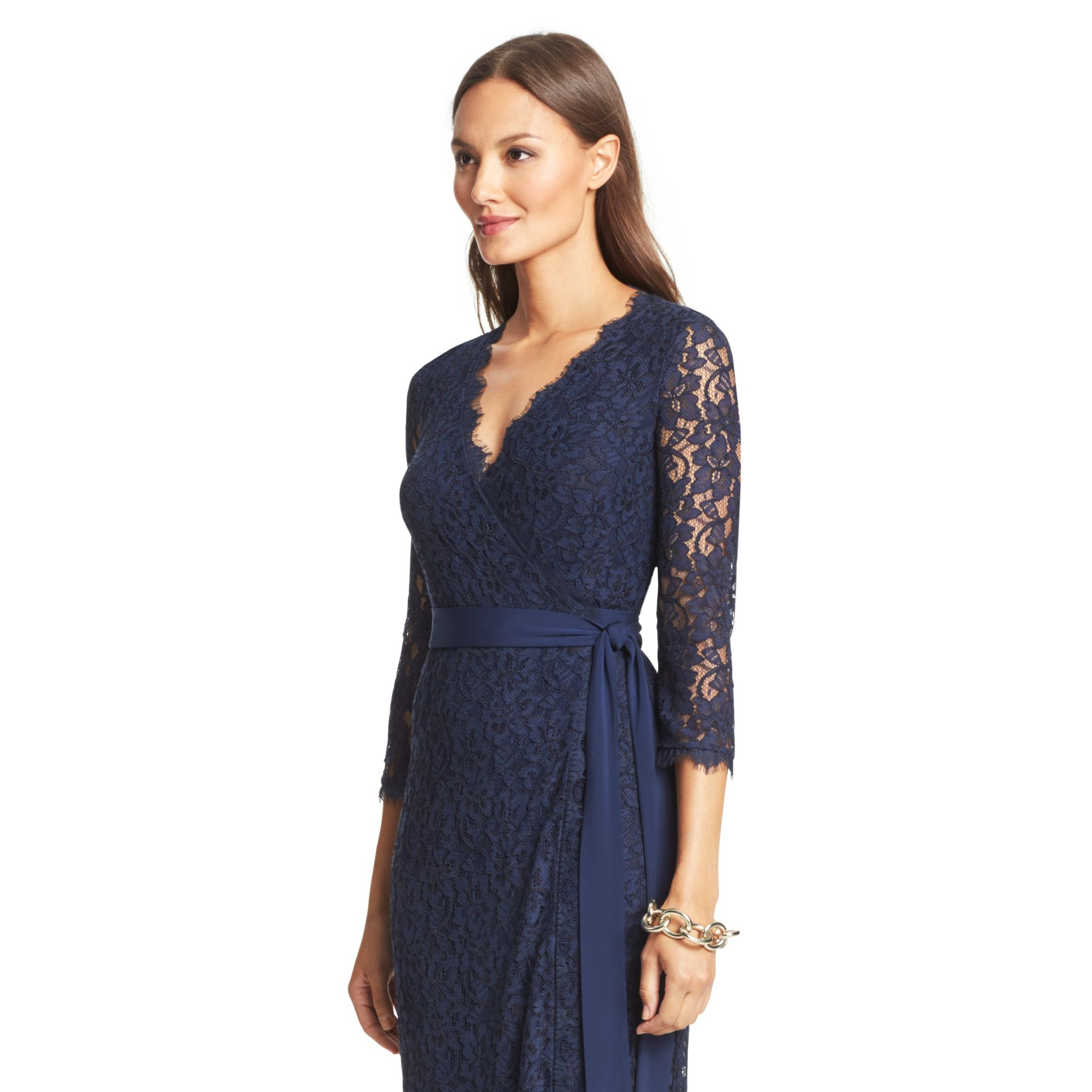 Lyst diane von furstenberg dvf julianna lace long wrap for Diane von furstenberg clothes