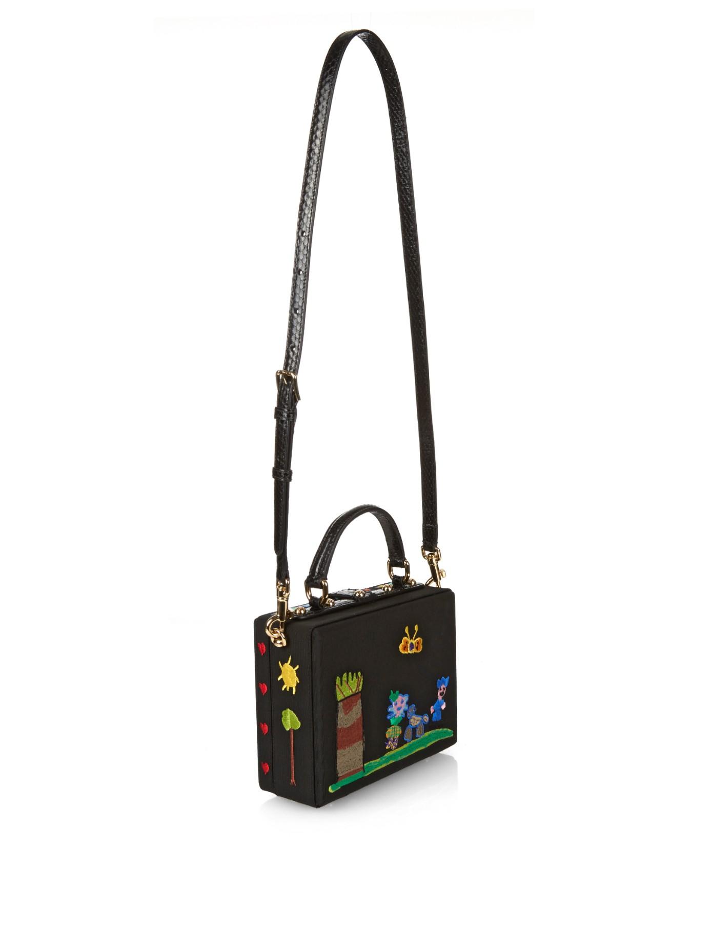 Embellished Leather Box Tote Dolce & Gabbana pSuk3