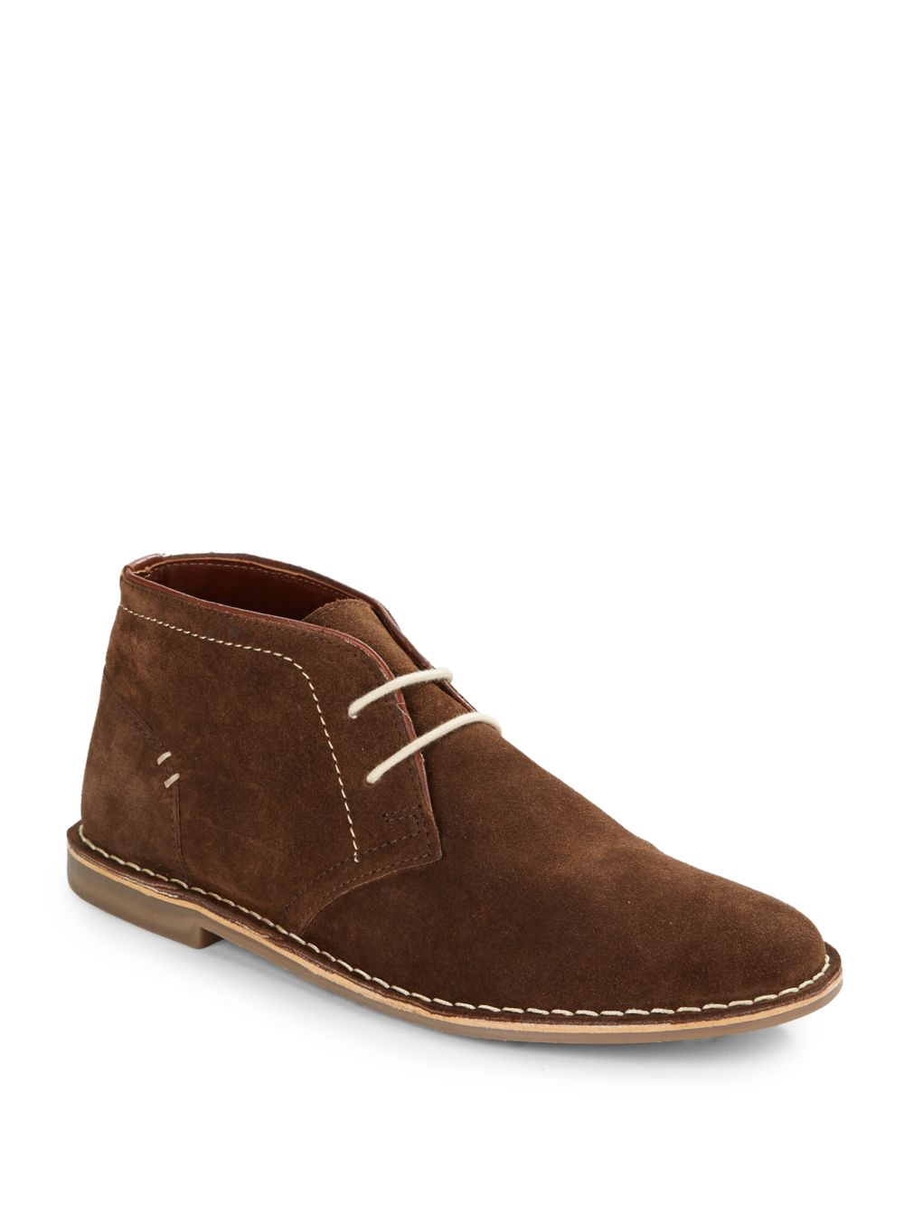 steve madden durvish suede chukka boots in brown for