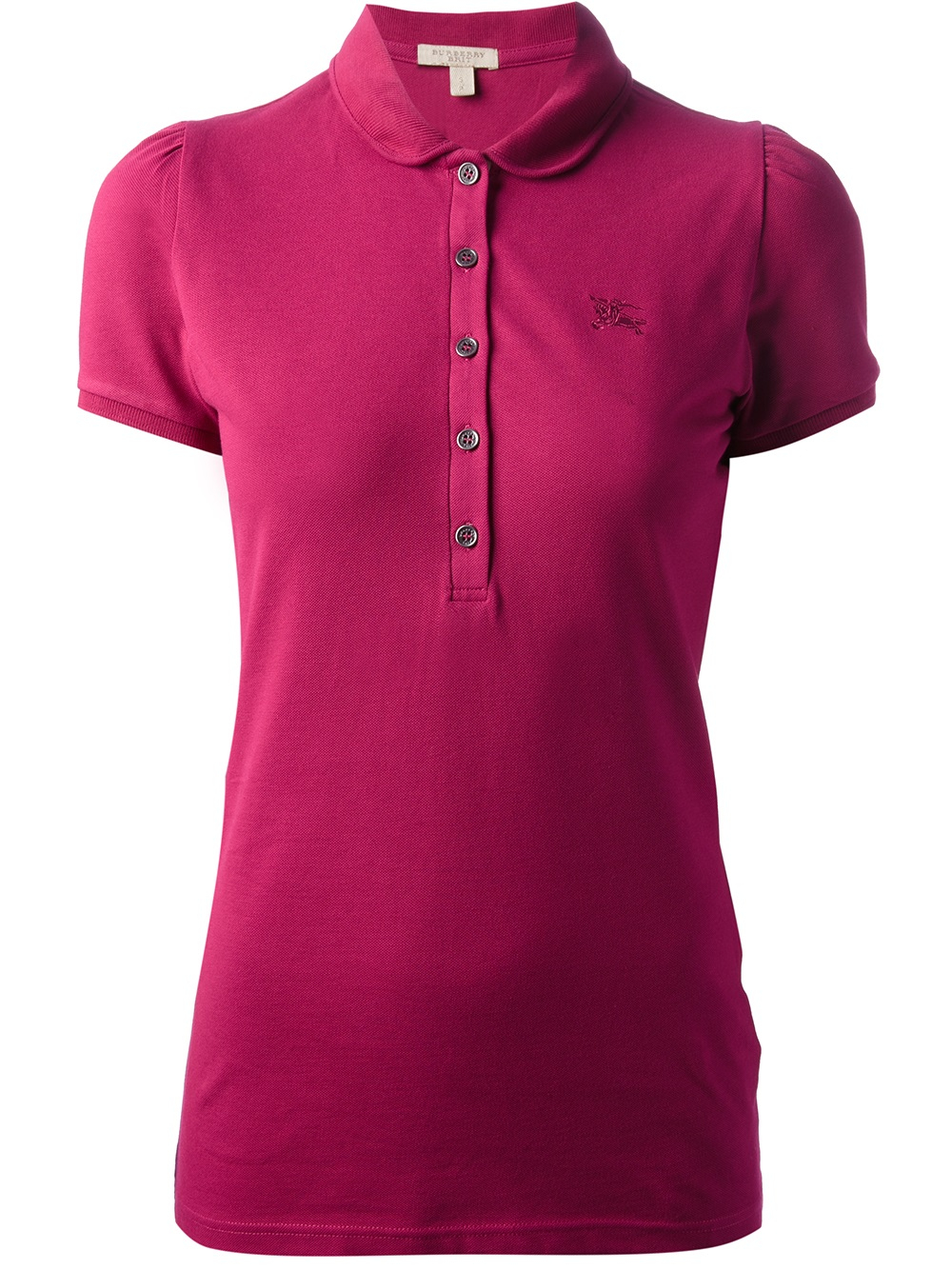 Burberry Brit Logo Polo Shirt In Pink Pink Purple Lyst