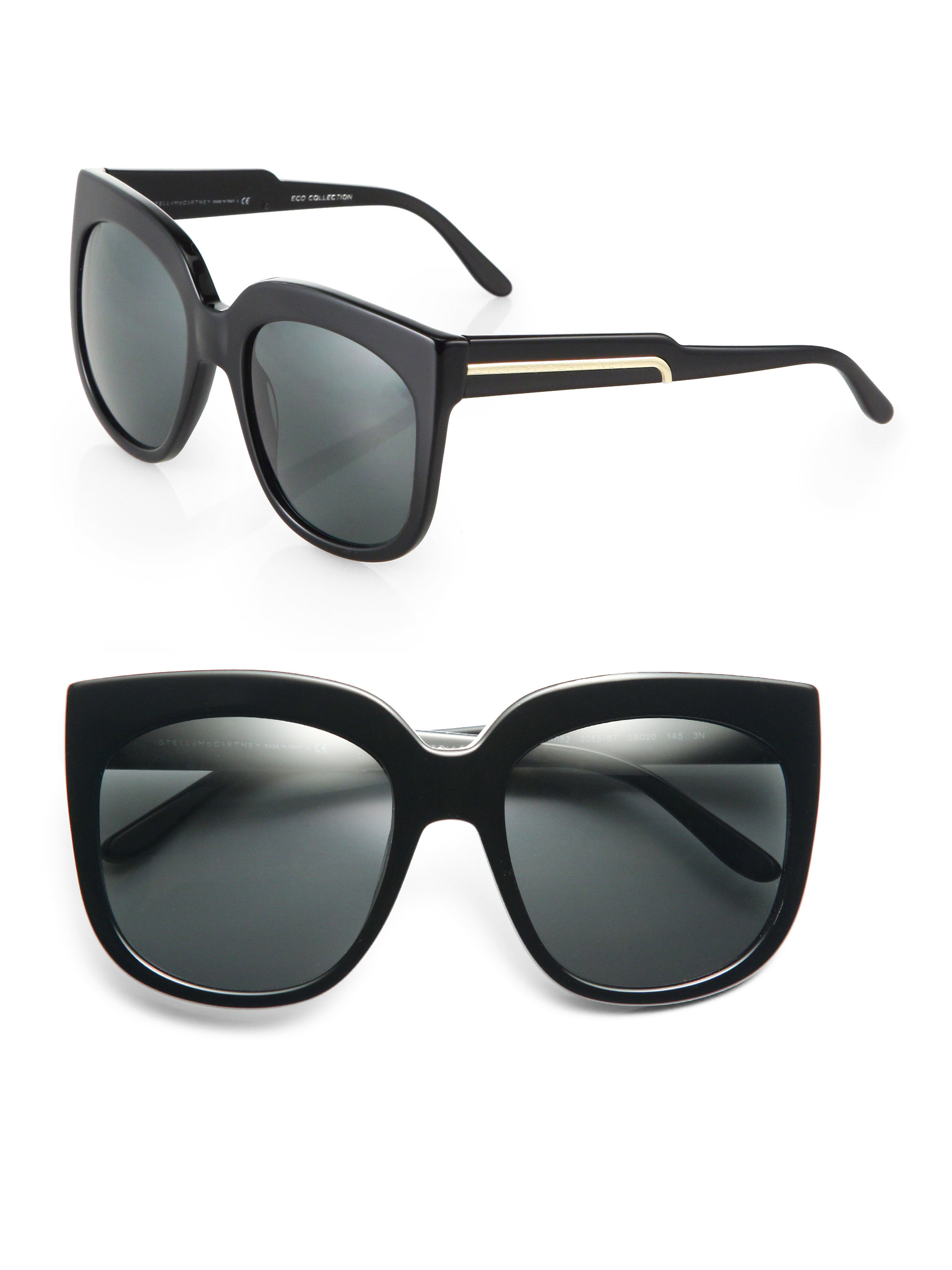 two-tone square sunglasses - Black Stella McCartney XwvLoOry