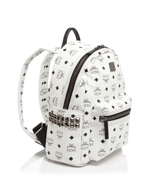 mcm stark side stud small backpack in black lyst. Black Bedroom Furniture Sets. Home Design Ideas