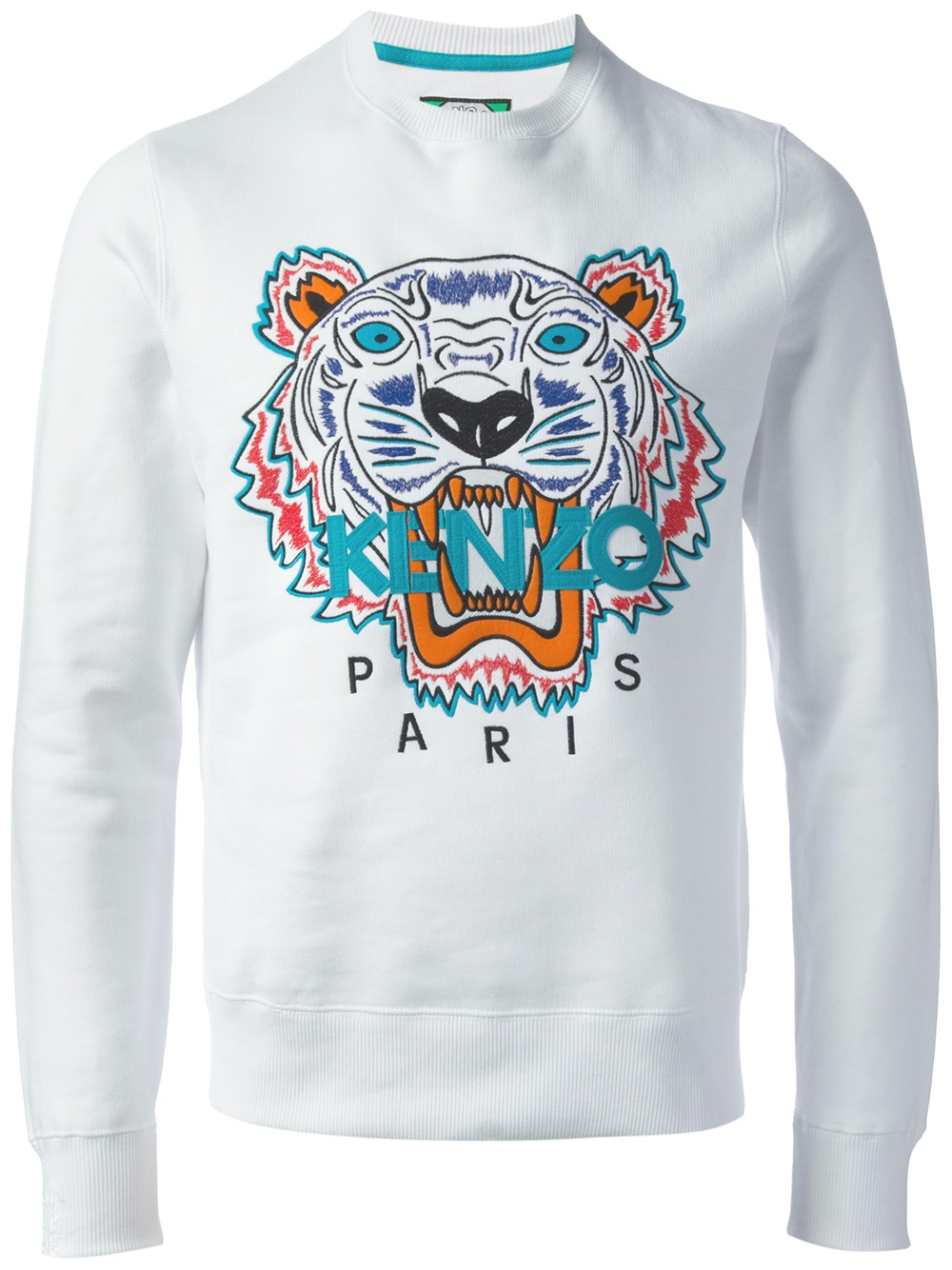 kenzo embroidered tiger sweater in white for men lyst. Black Bedroom Furniture Sets. Home Design Ideas