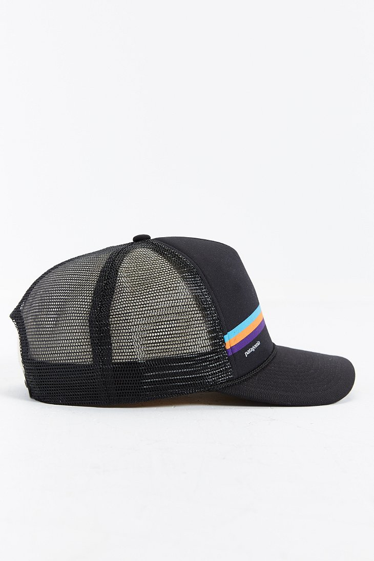 30dbd5cd19e Lyst - Patagonia Fitz Roy Lopro Trucker Hat in Black for Men