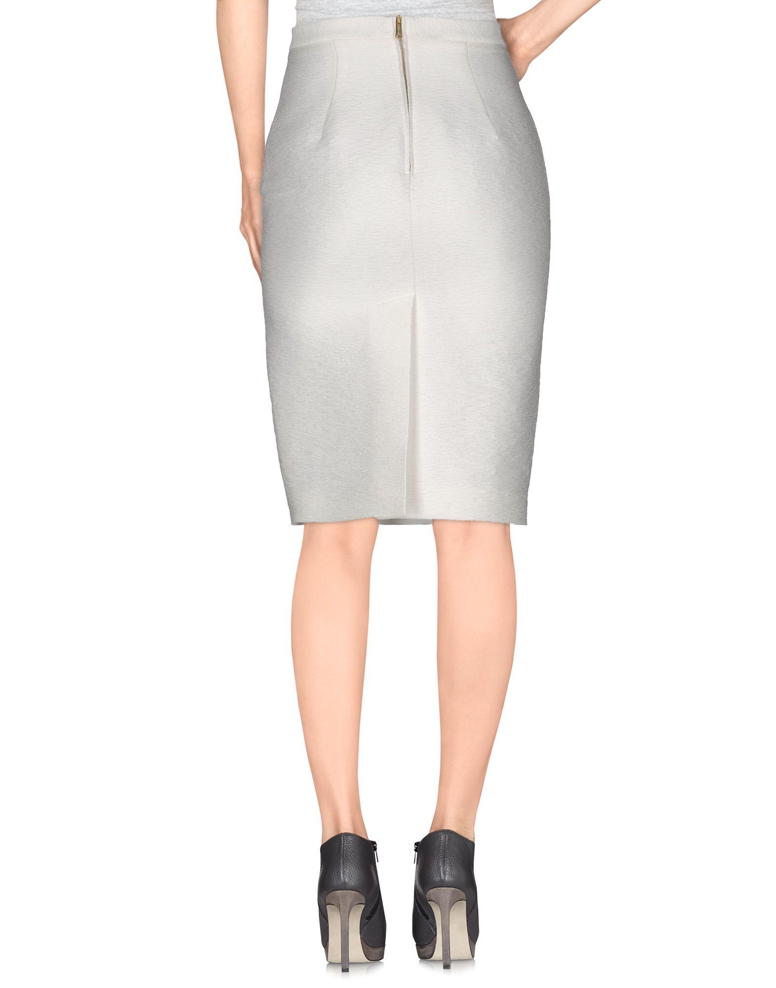 dsquared 178 knee length skirt in white lyst