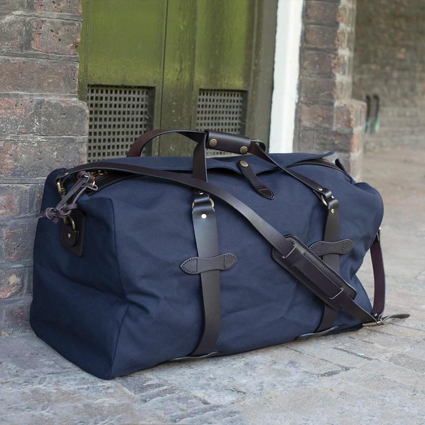 Filson Medium Navy Duffel Bag In Blue For Men