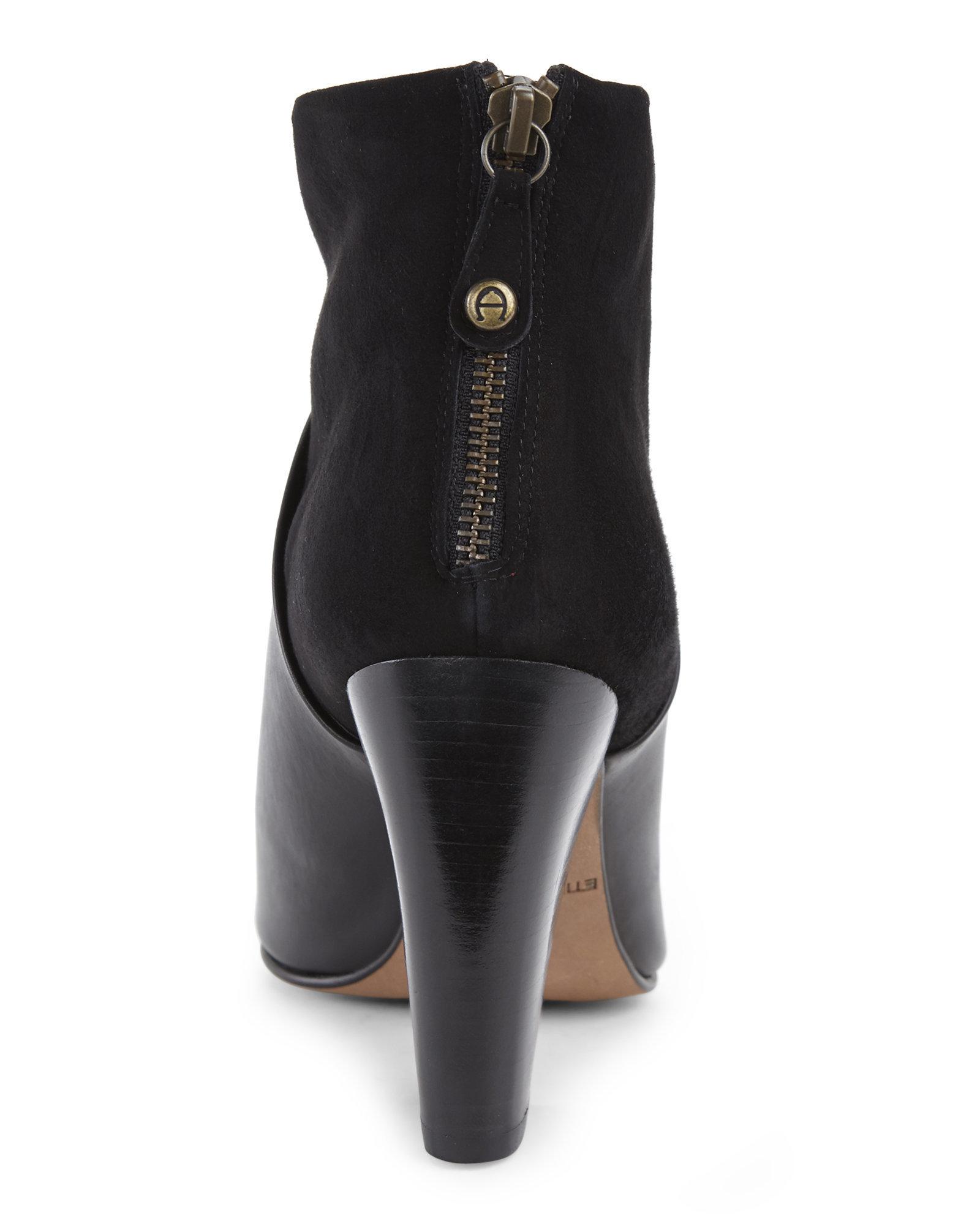 Etienne aigner black leather gloves - Gallery