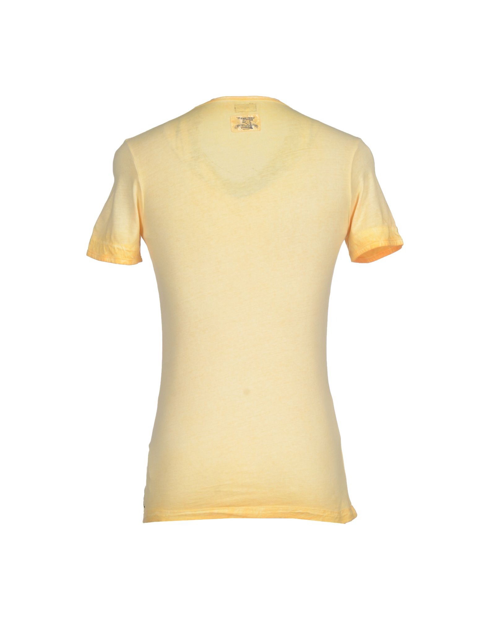 armani jeans t shirt in yellow for men light yellow lyst. Black Bedroom Furniture Sets. Home Design Ideas
