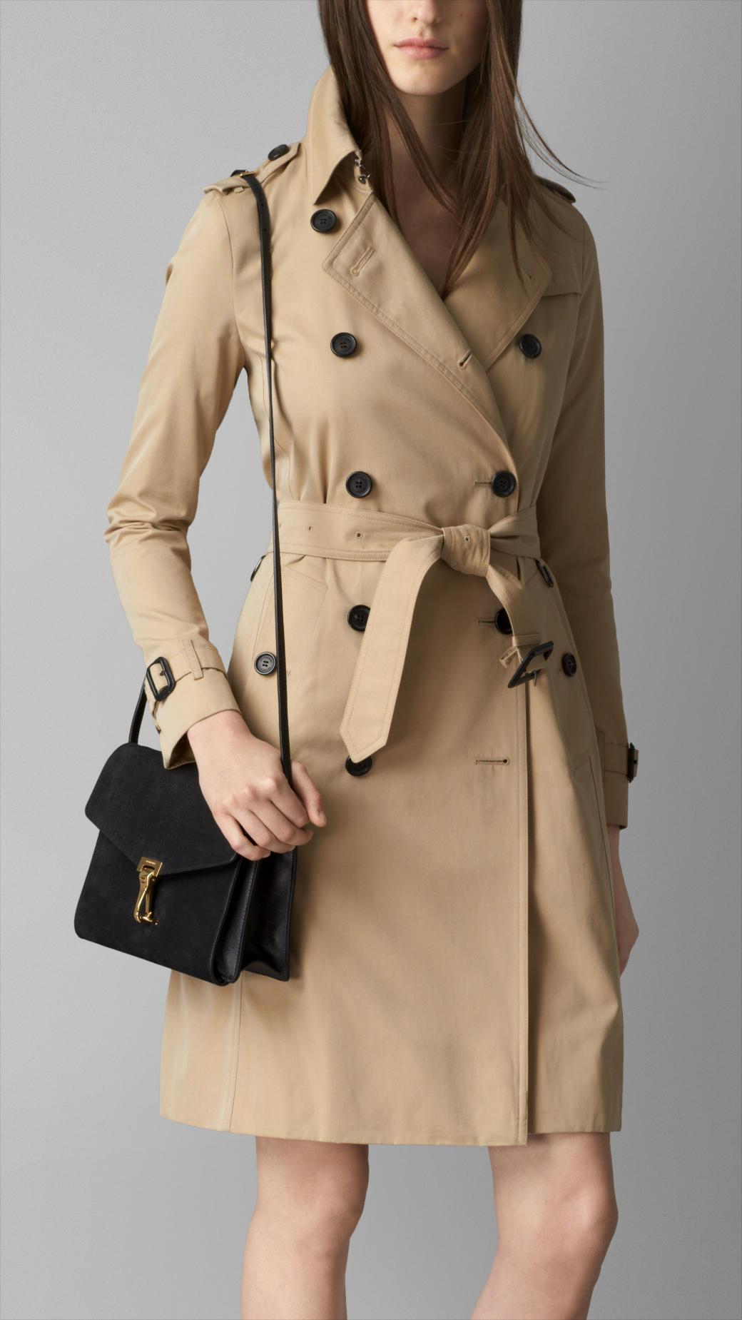 3ae706e541e1 Lyst - Burberry Nubuck Leather Crossbody Bag in Black