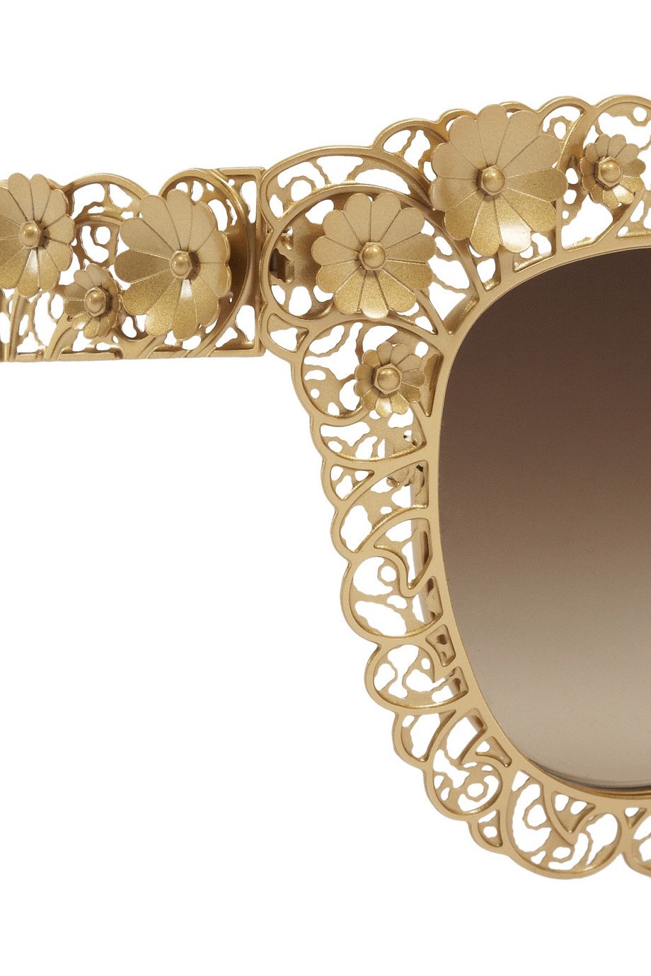 Lyst Dolce Amp Gabbana Cat Eye Filigree Goldtone