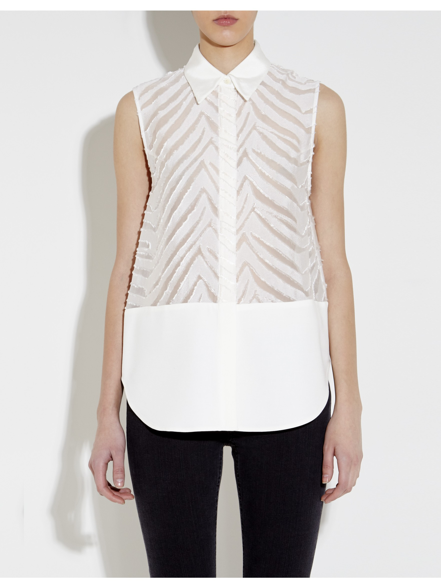 Shop for white sleeveless collar shirt online at Target. Free shipping on purchases over $35 and save 5% every day with your Target REDcard.