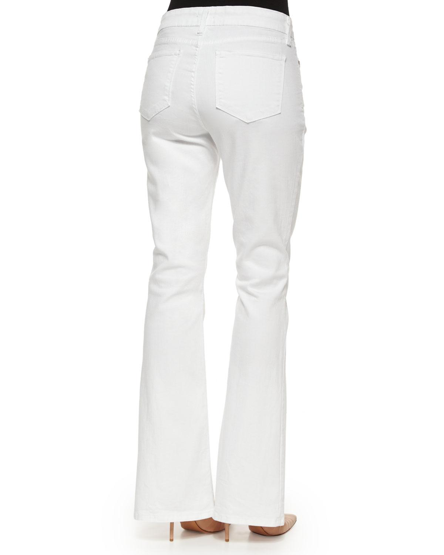 Nydj Farrah Flare-Leg Jeans in White | Lyst