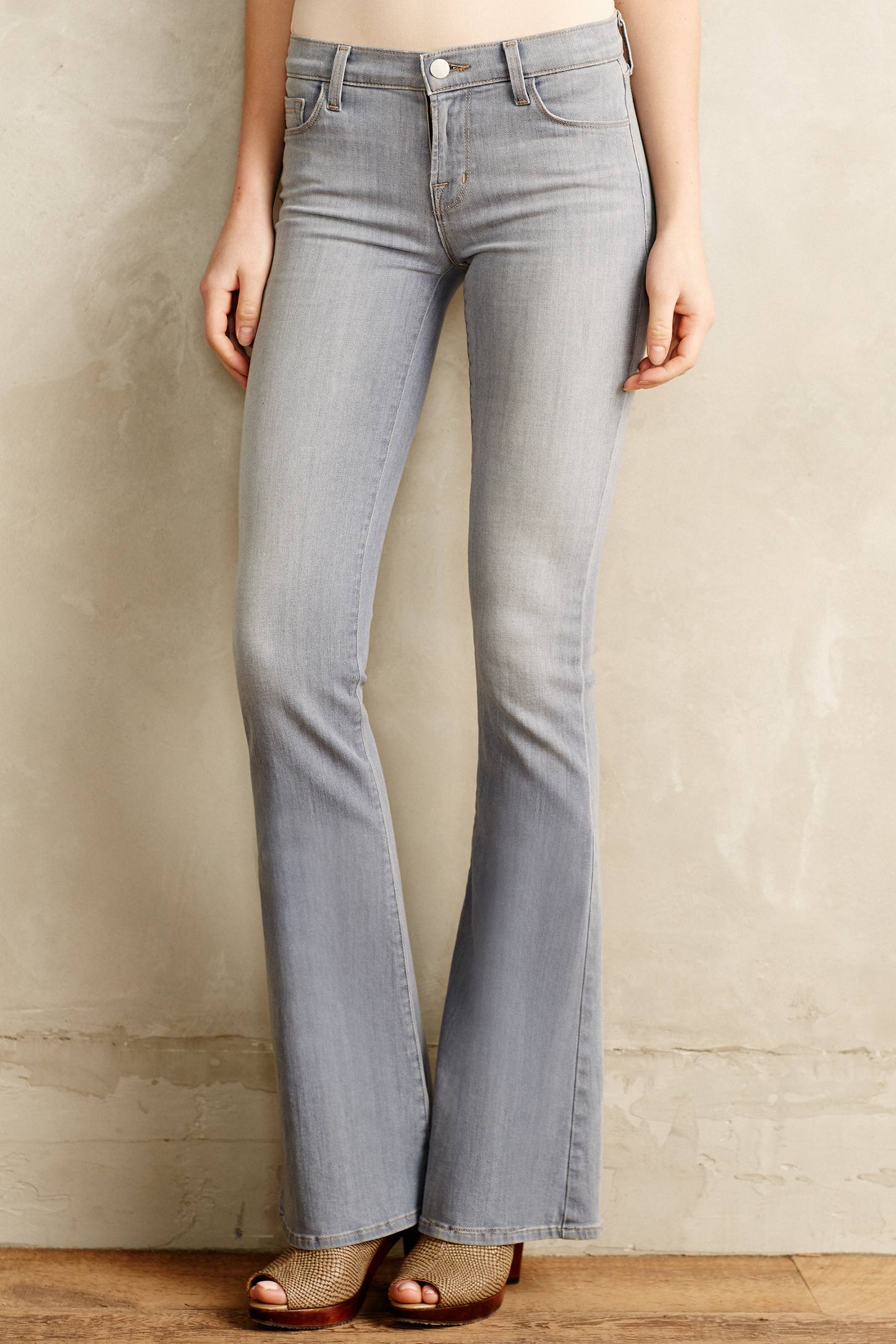 J brand Martini Flare Jeans in Gray | Lyst