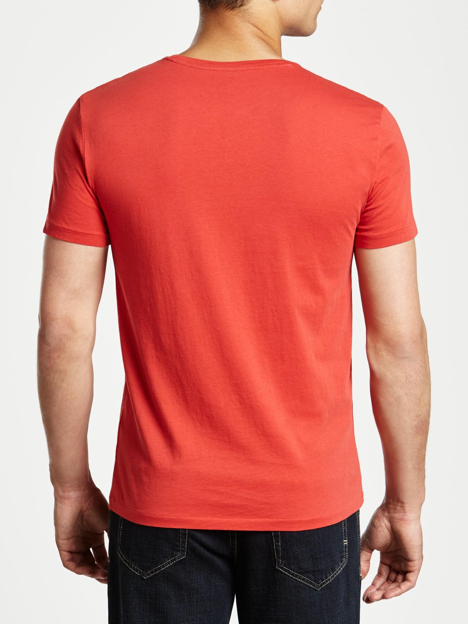 polo ralph lauren anchor logo t shirt in pink for men lyst. Black Bedroom Furniture Sets. Home Design Ideas