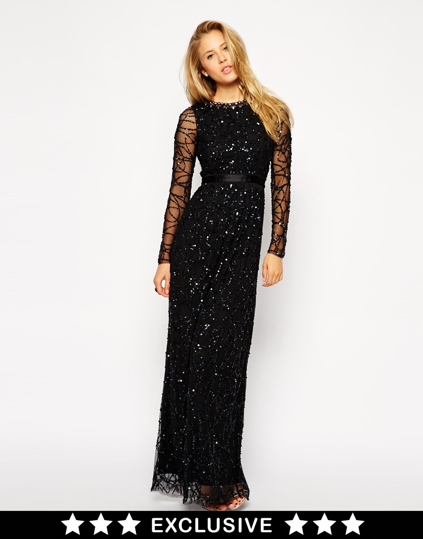 cf2062c84bb Needle   Thread Irridescent Tulle Maxi Dress in Black - Lyst