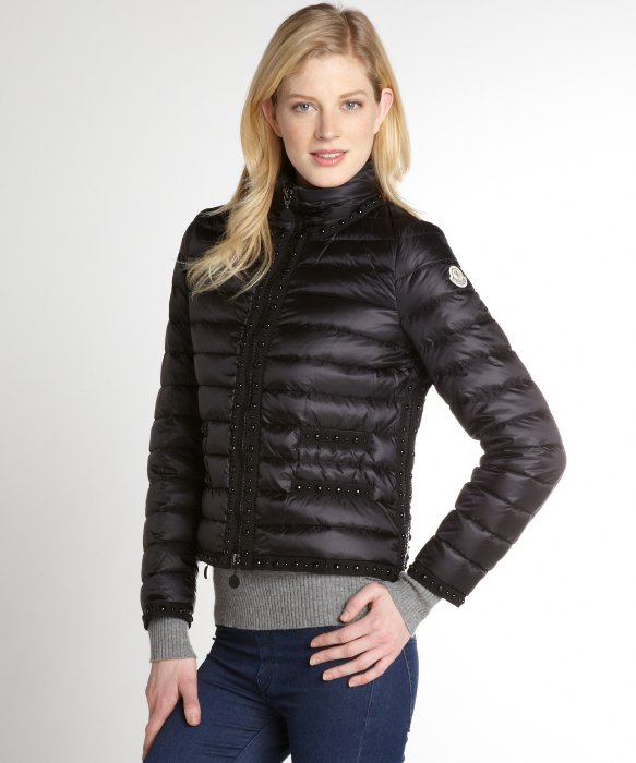 moncler black jacket womens