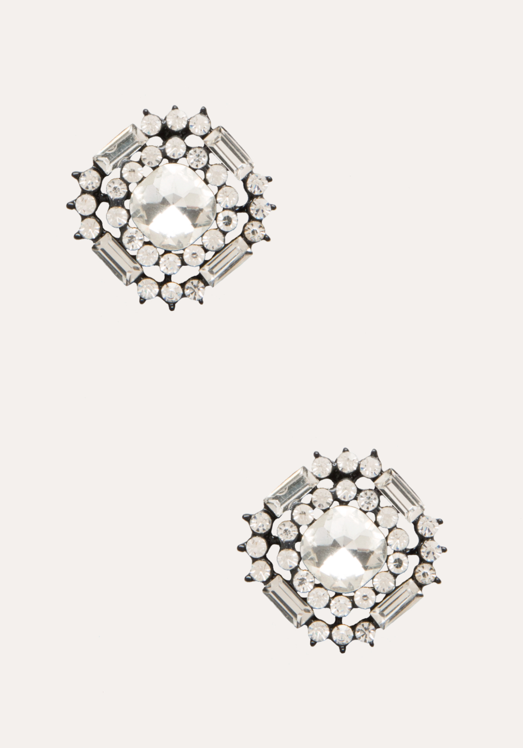 large earrings silver products crystal cc auth stud image chanel new