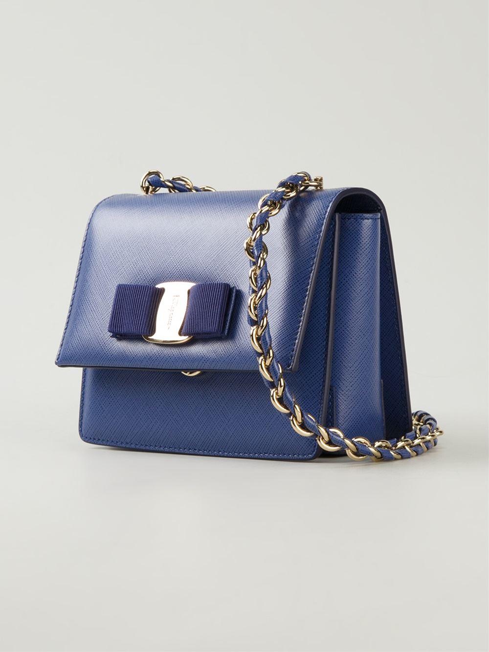 Ferragamo  Ginny  Cross Body Bag in Blue - Lyst bbb3b0d576