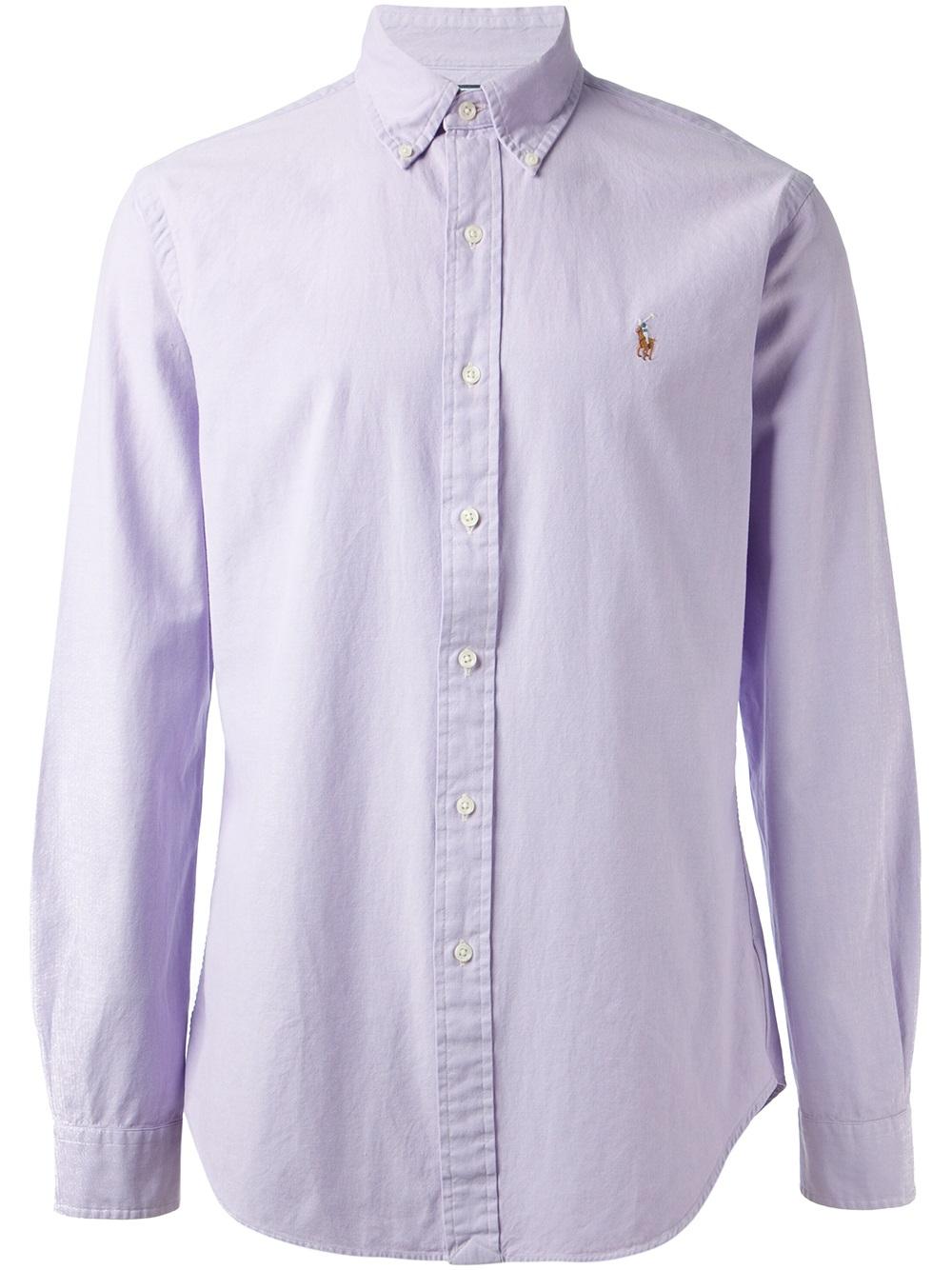 83a5e746e097 ... switzerland polo ralph lauren button down shirt in purple for men lyst  de486 83a68