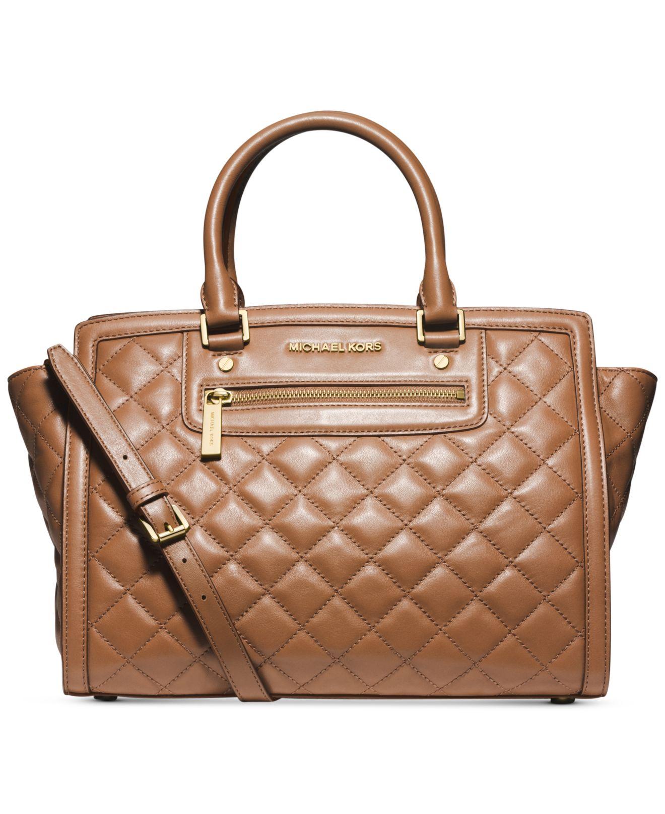 michael kors michael selma zip quilt large satchel in. Black Bedroom Furniture Sets. Home Design Ideas