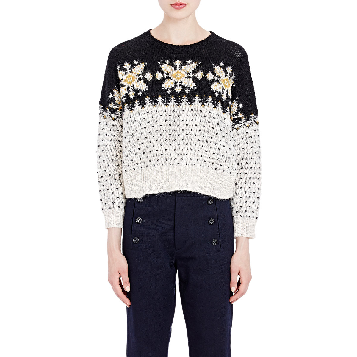 Étoile isabel marant Women's Fair Isle Gillian Sweater in Black | Lyst