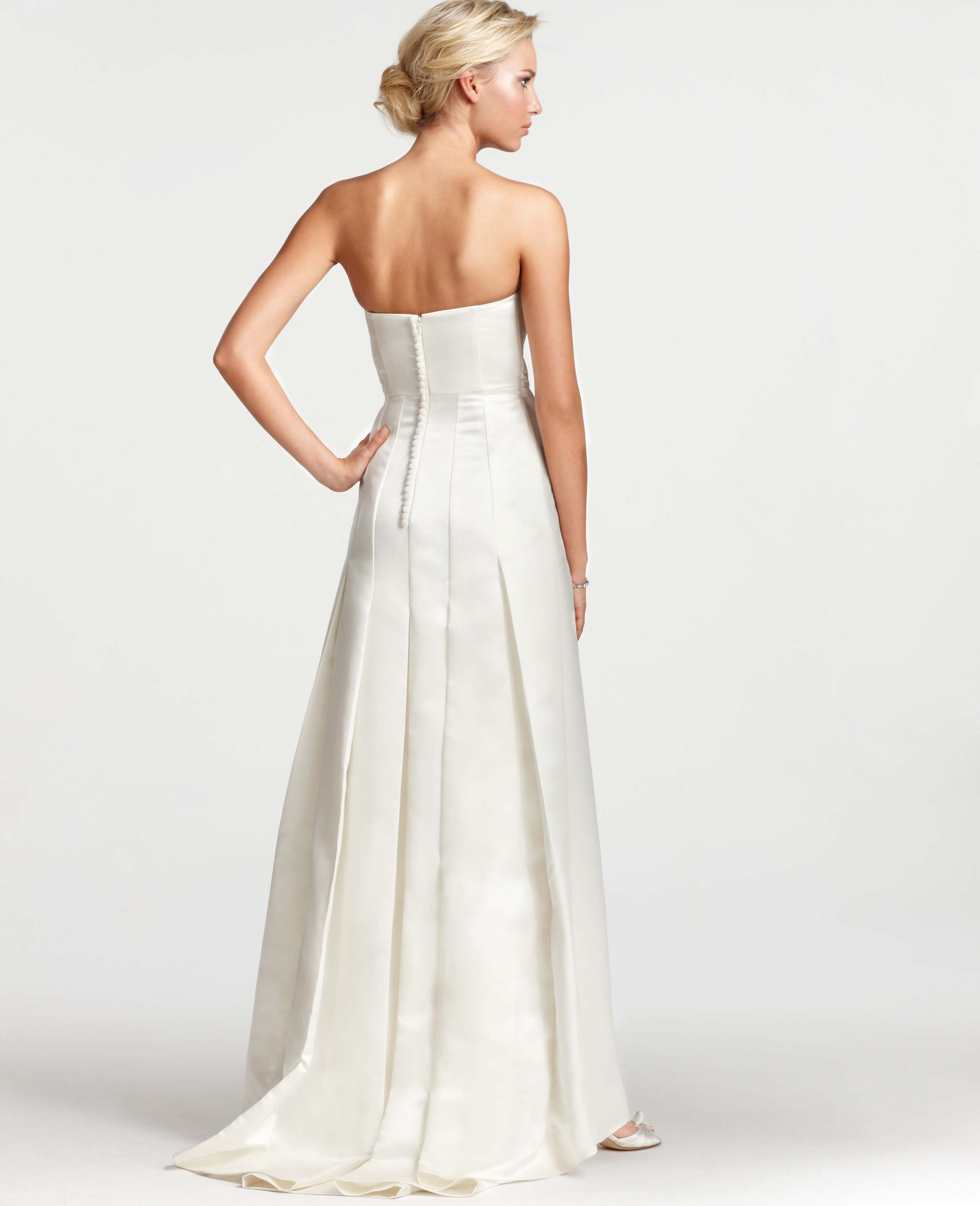 Lyst - Ann Taylor Layla Duchess Satin Strapless Wedding Dress in White
