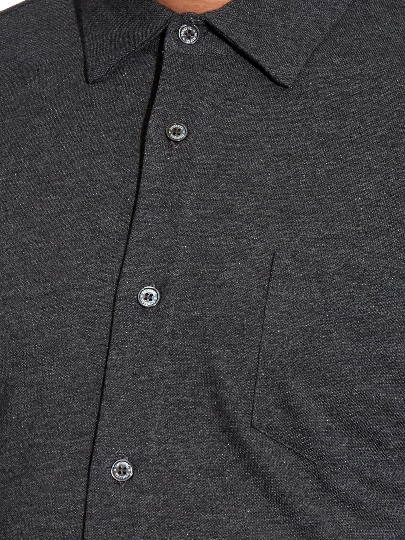 Cotton-piqué Shirt Sunspel Browse rCwks