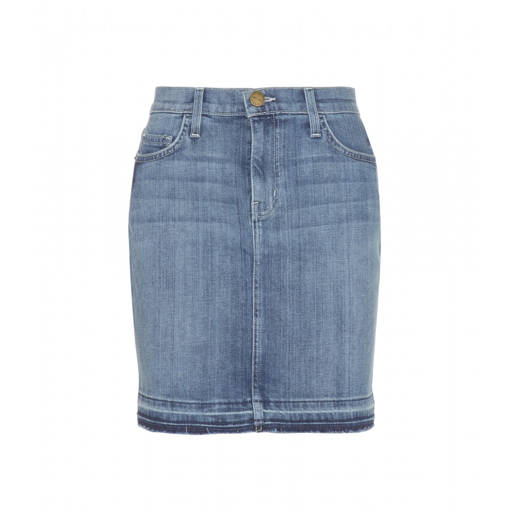current elliott the mini denim mini skirt in blue