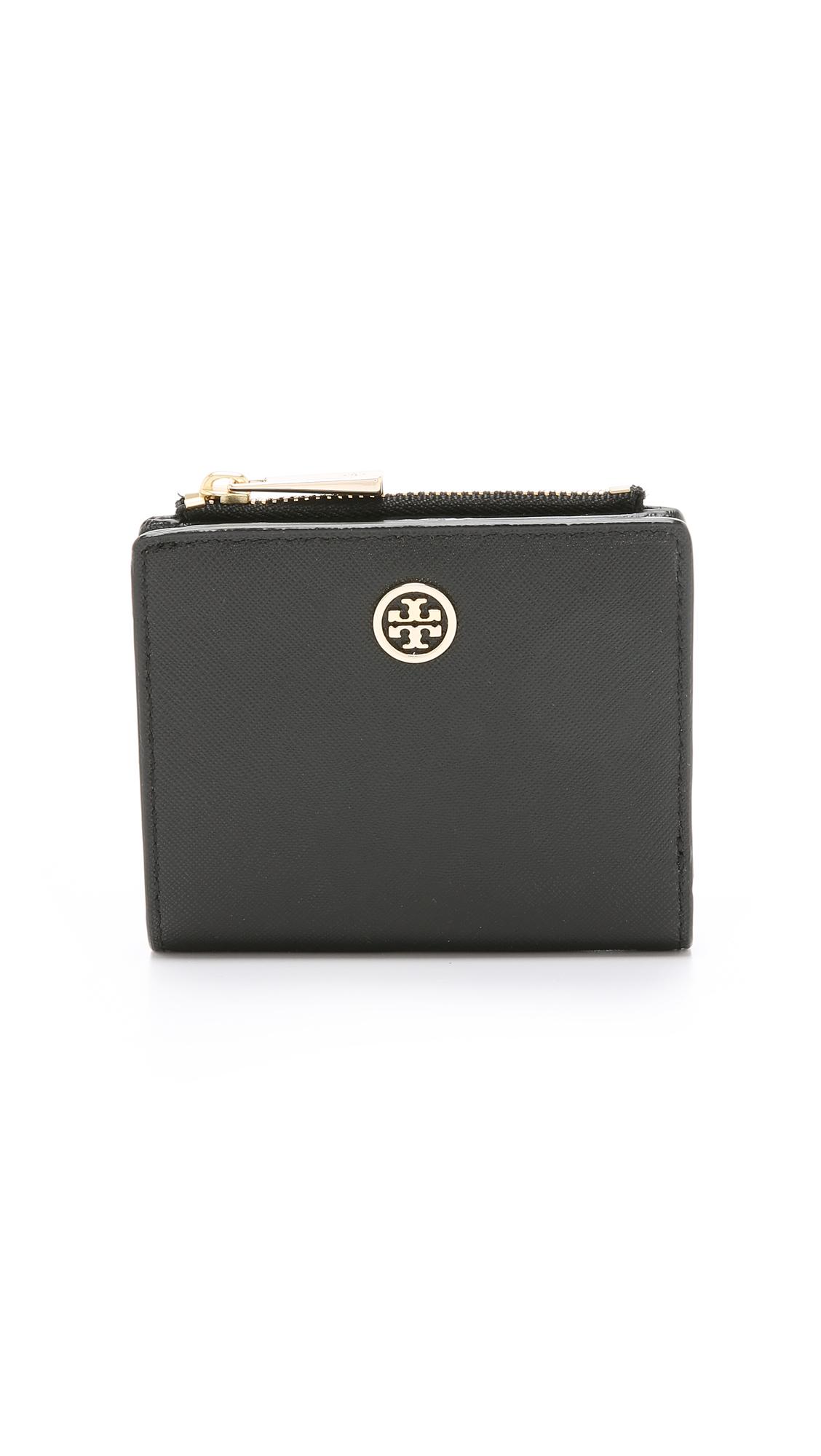 Tory Burch Robinson Mini Wallet In Black Lyst