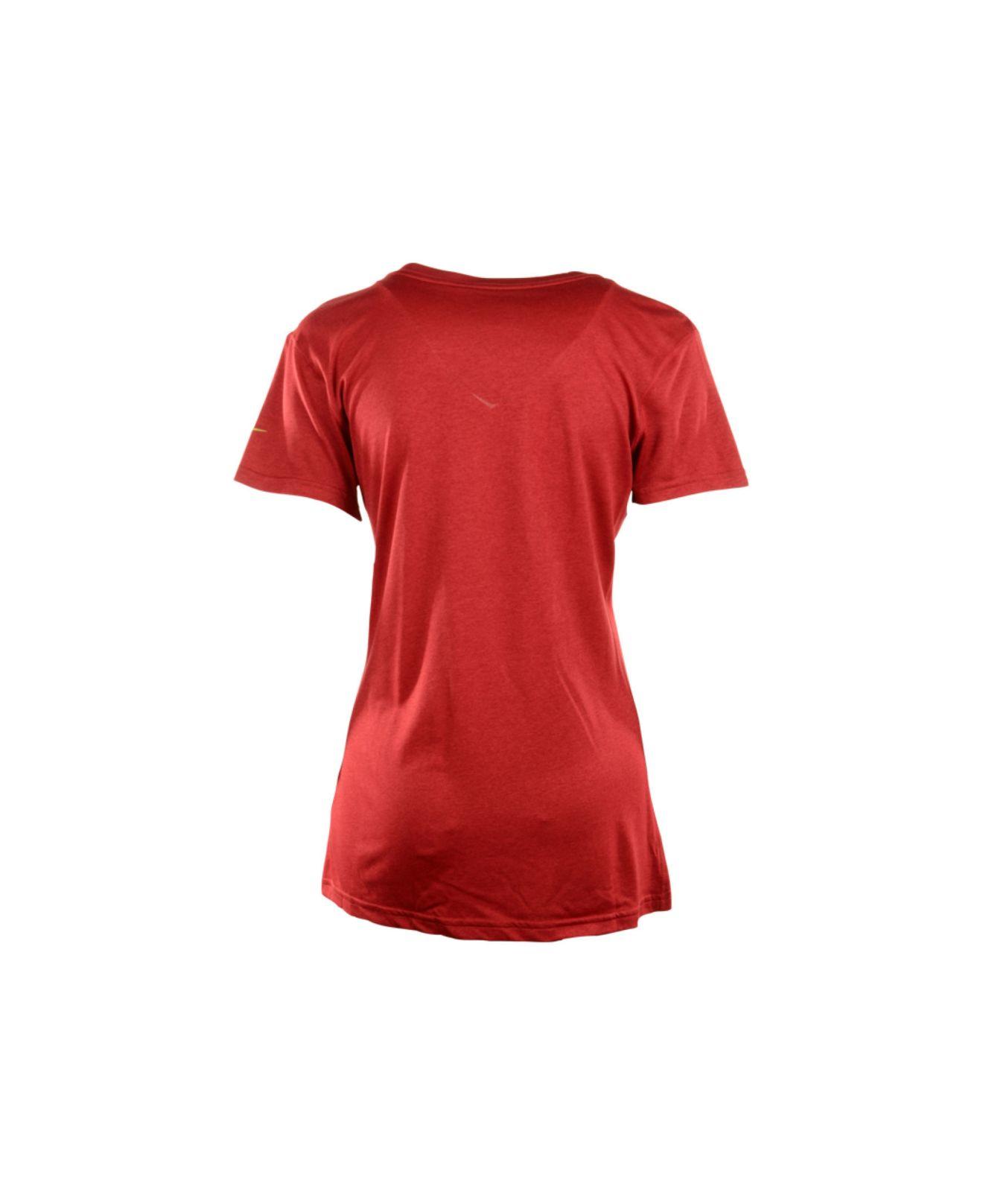 Lyst - Nike Women s Short-sleeve San Francisco 49ers V-neck T-shirt ... 5c16cc831