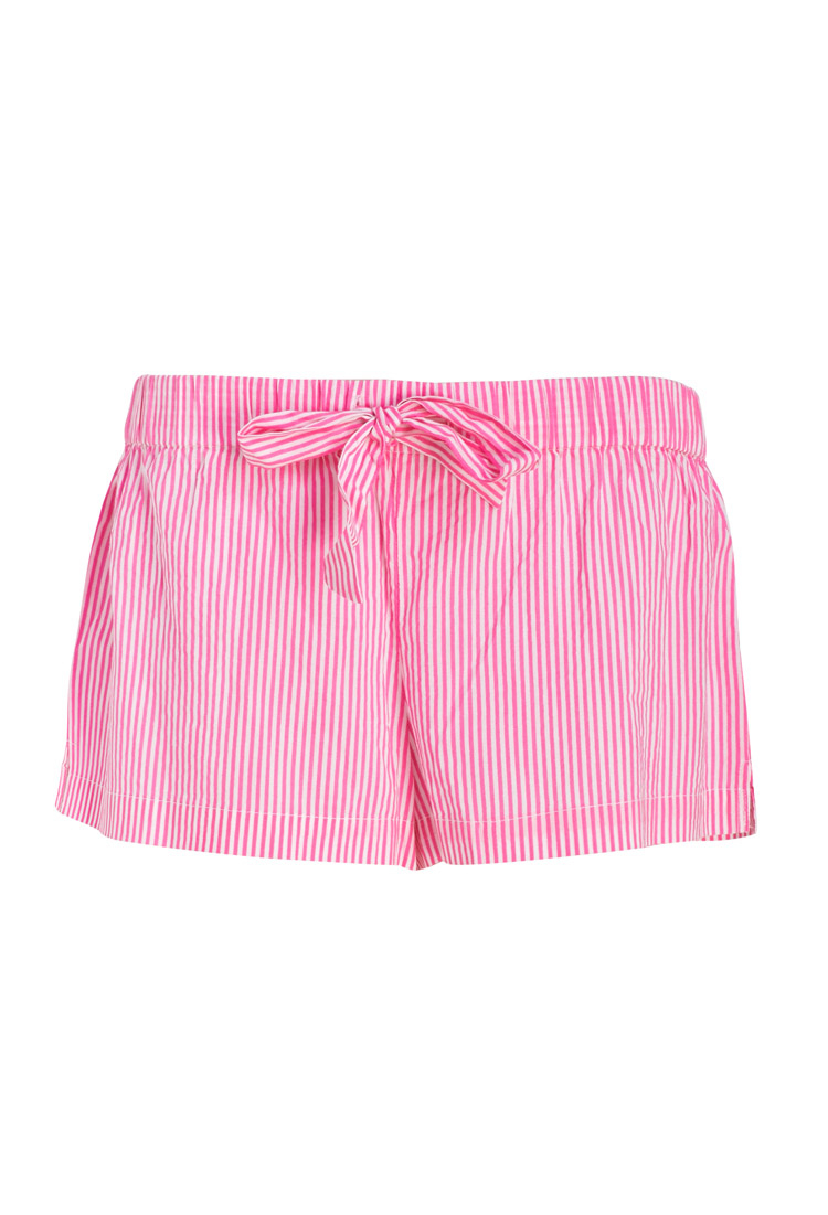 Forever 21 Striped Pj Shorts In Pink Lyst