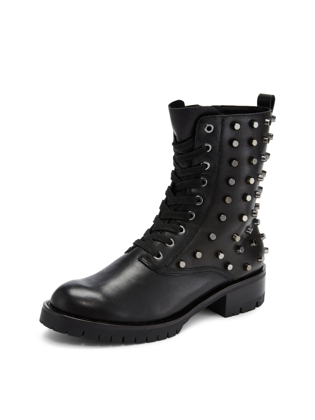 Dkny Melissa Studded Lace Up Boot In Black Lyst