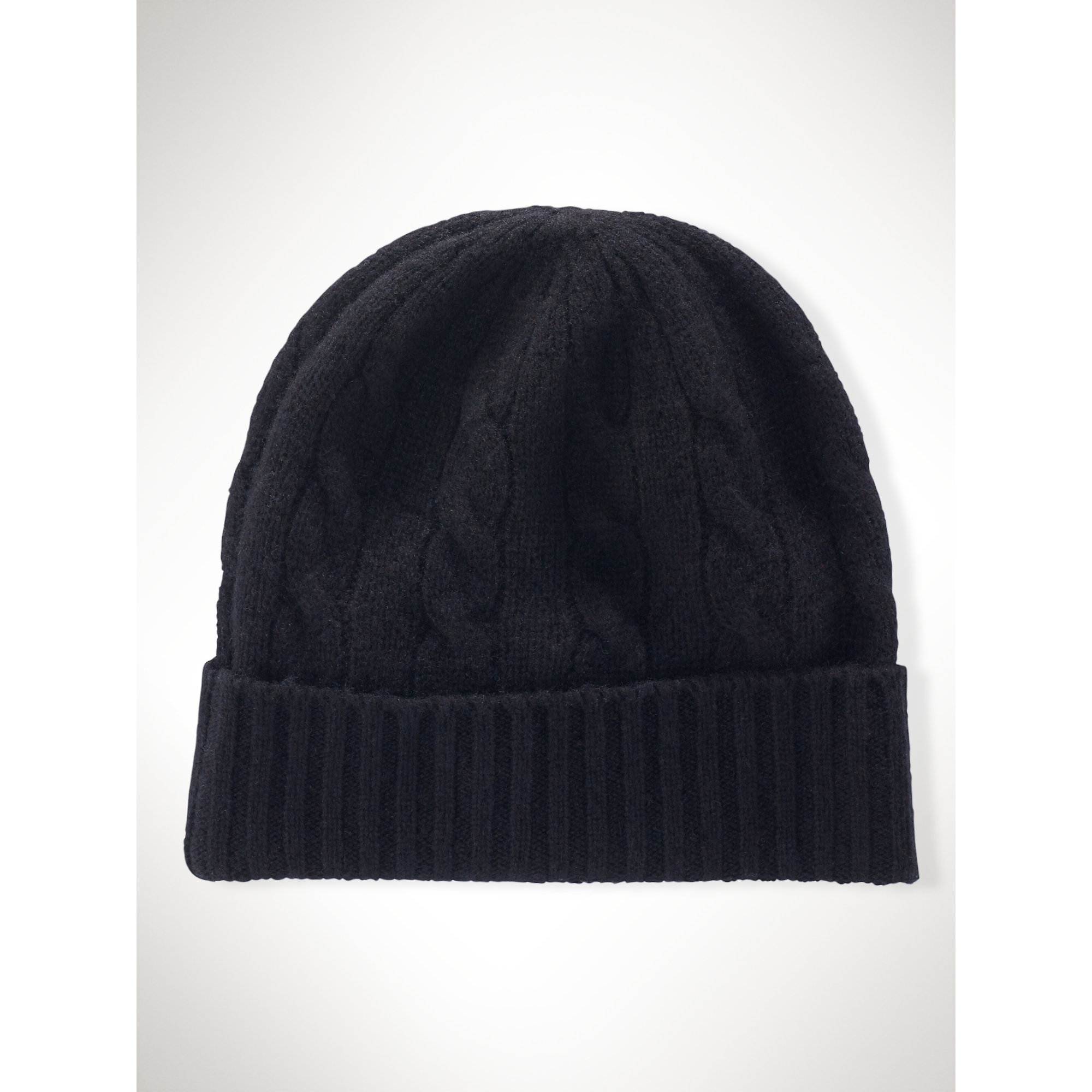 Lyst - Polo Ralph Lauren Cable-Knit Cashmere Hat in Black 48cd4757b2f