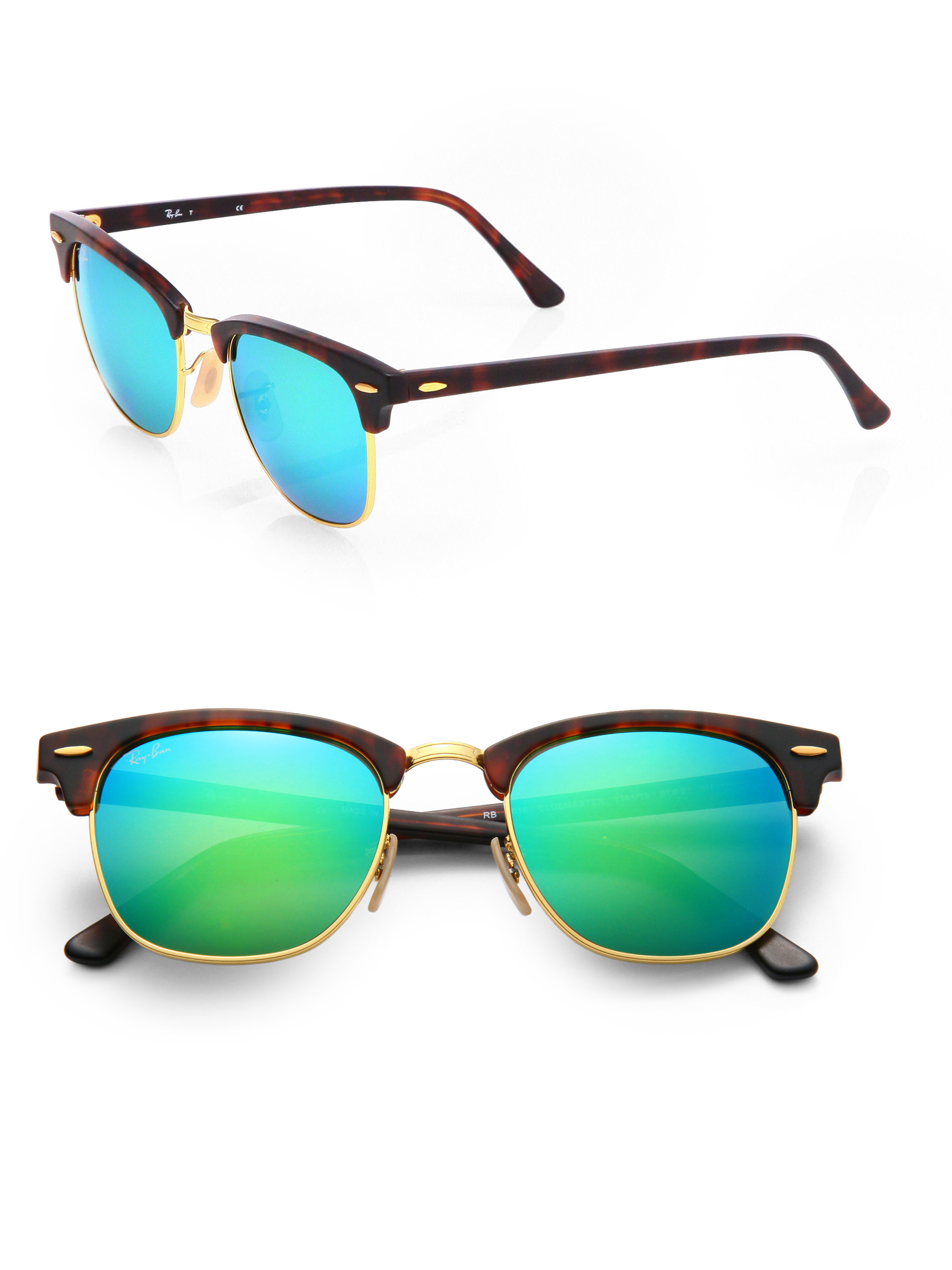 46d3894d6fa Gallery. Previously sold at  Saks Fifth Avenue · Men s Mirrored Sunglasses  Men s Ray Ban Clubmaster ...