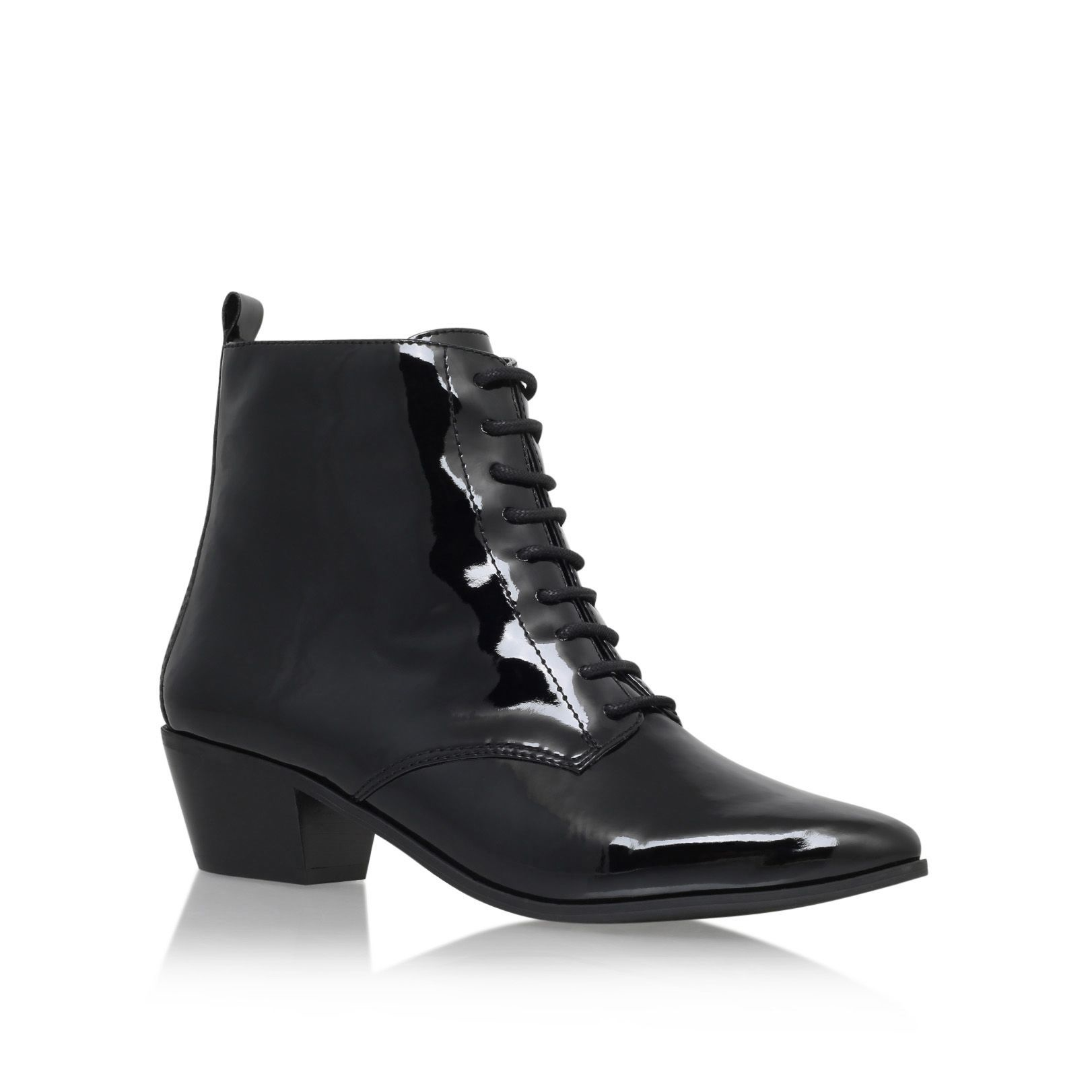 lace up ankle boots low heel is heel