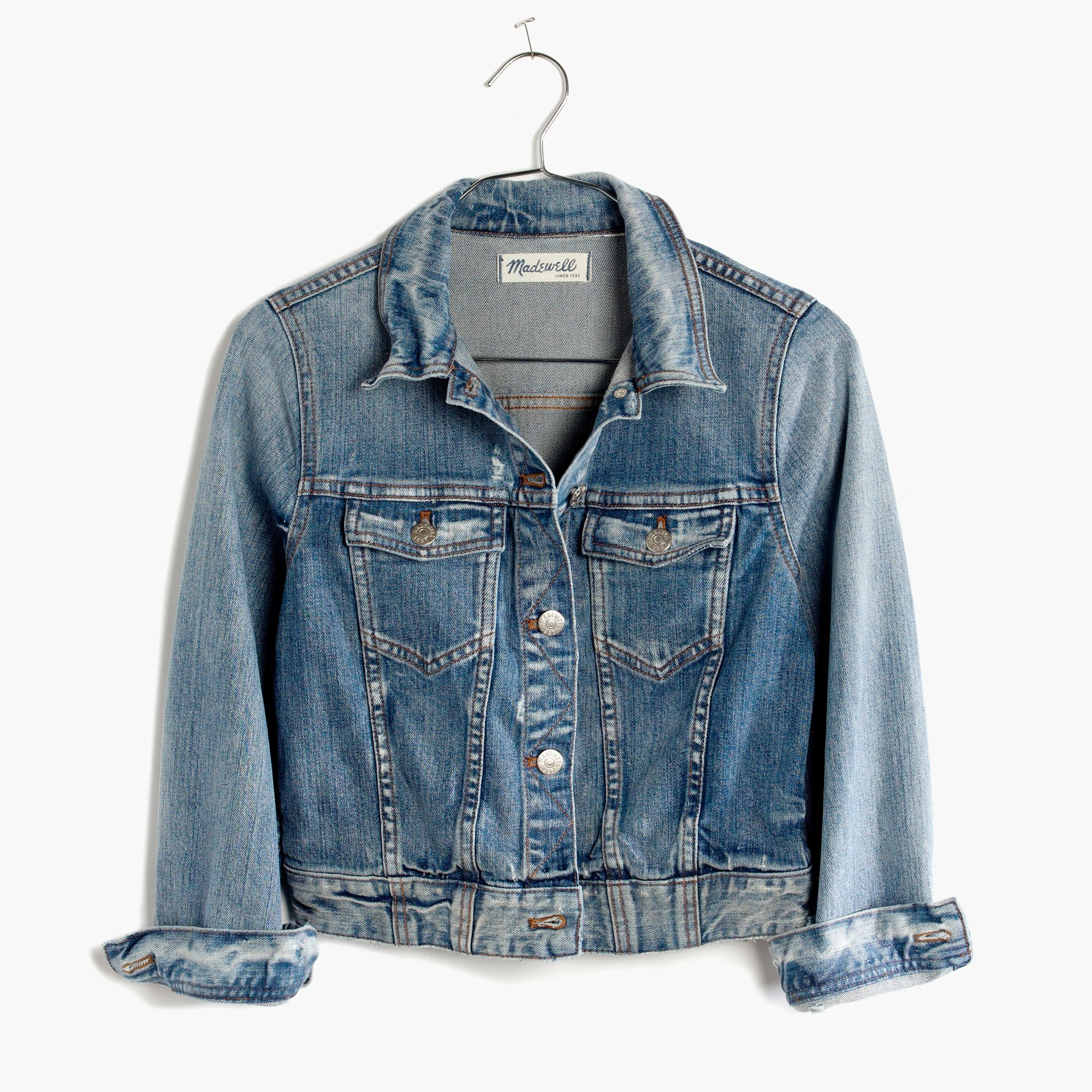 Madewell The Crop Jean Jacket in Blue | Lyst