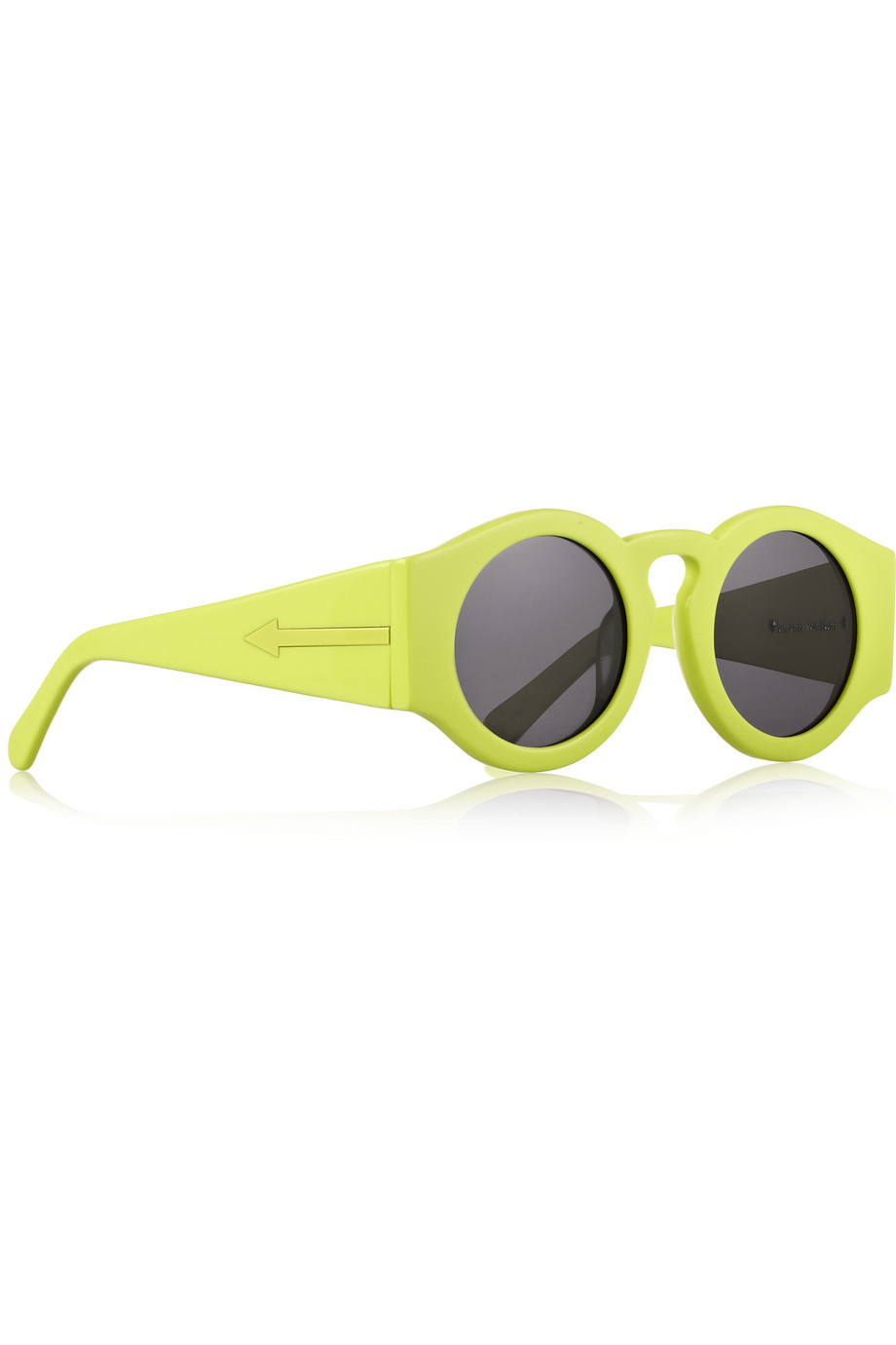 Lyst - Finds Blue Moon Round-frame Neon Acetate Sunglasses in Yellow