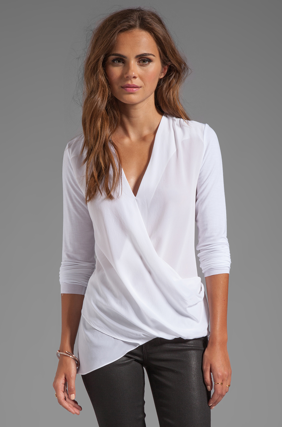 b1a2f5628 Ladies White Wrap Front Blouse « Alzheimer's Network of Oregon