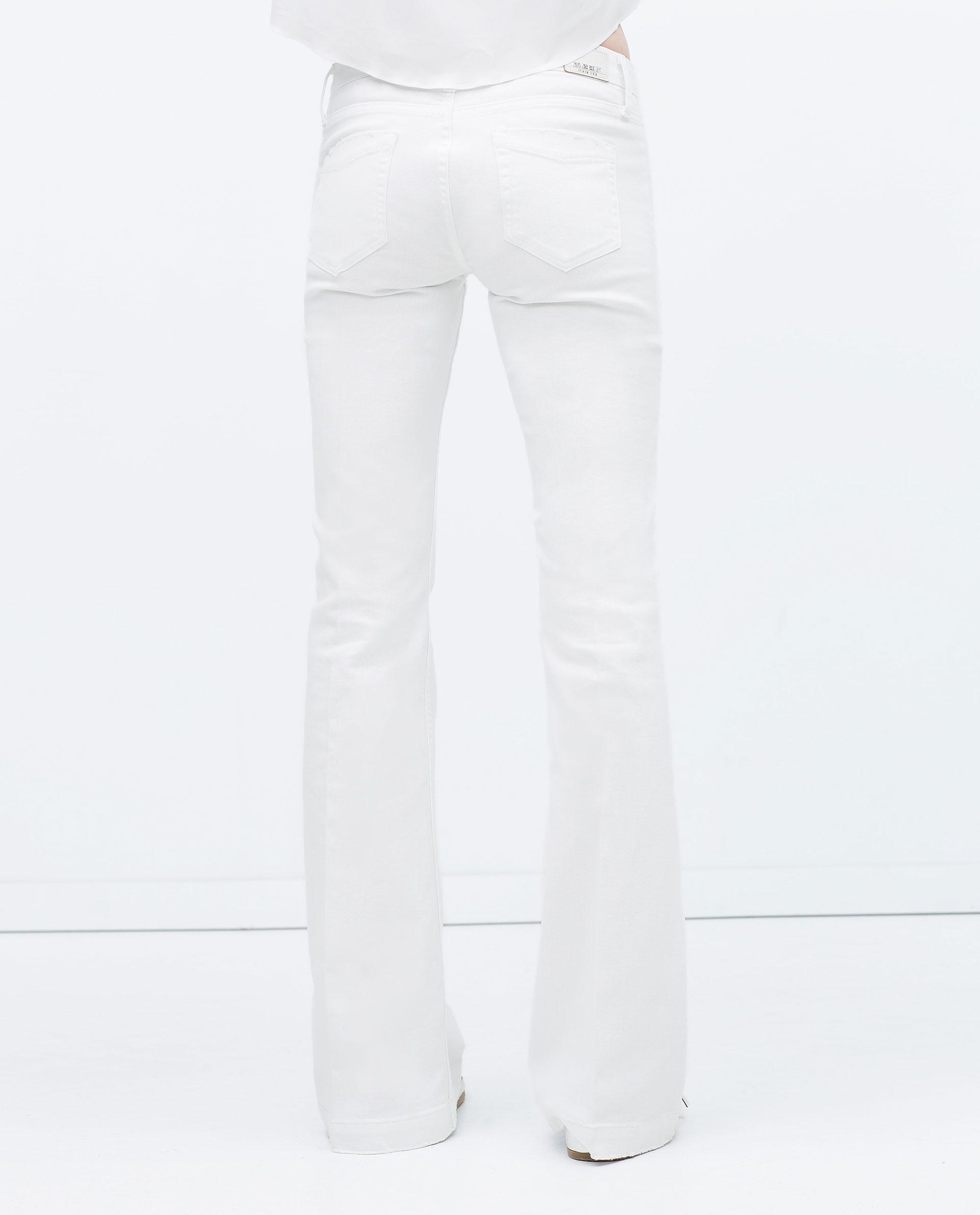 Amazing Zara Distressed Jeans In Blue  Lyst