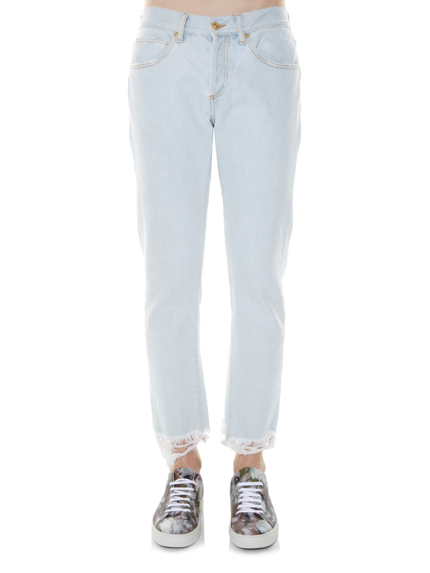 Off-white c/o virgil abloh Slim-leg Cropped Jeans in Blue for Men ...