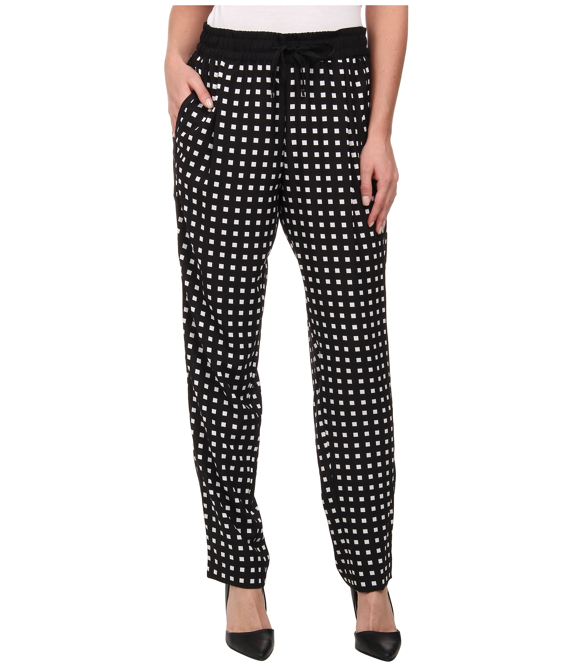 Calvin klein Plus Size Printed Soft Pants in Black | Lyst