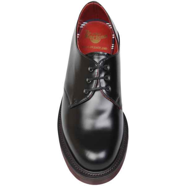 Dr. Martens Black Mens Made in England 3eye Leather Shoes for men