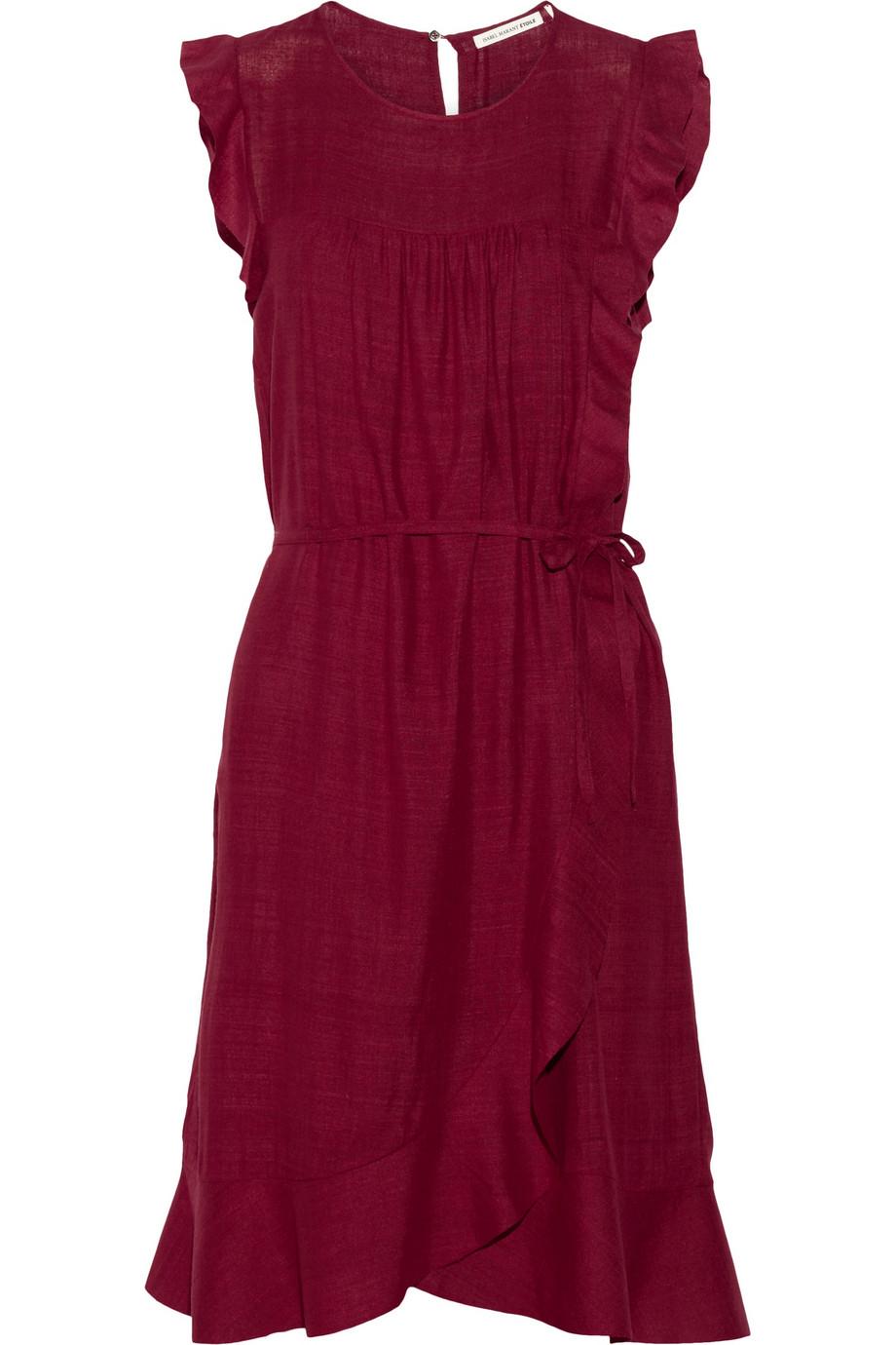 Lyst 201 Toile Isabel Marant Saba Wrapfront Silkmatka Dress