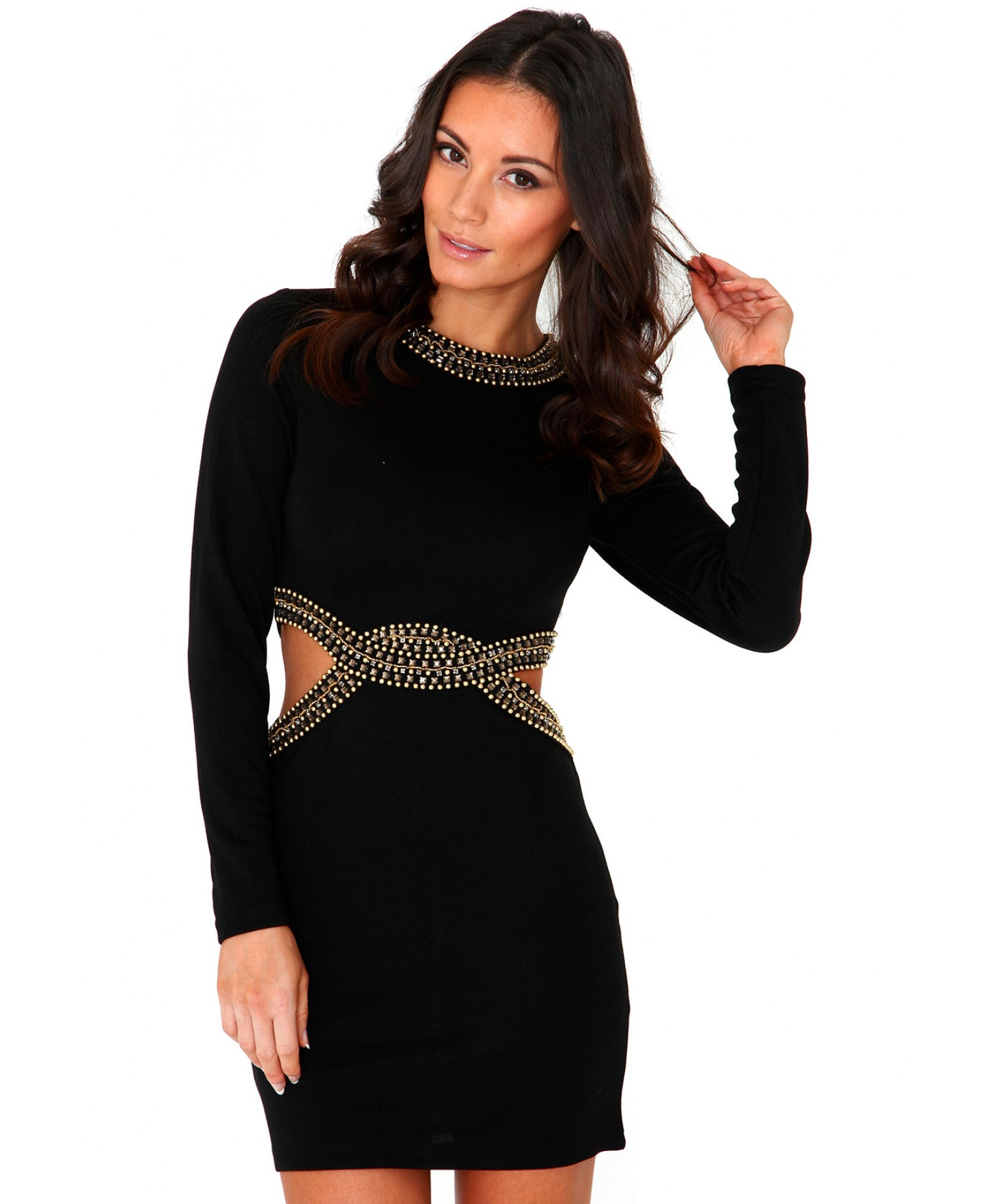 Sleeve Long cut out dress advise to wear for autumn in 2019