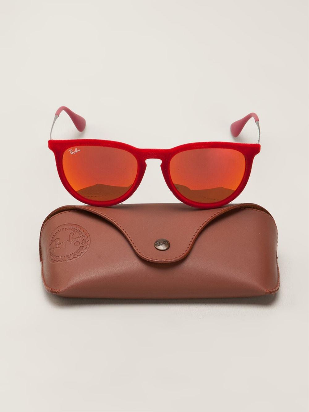 Ray Ban Erika Velvet Sunglasses In Red For Men Lyst