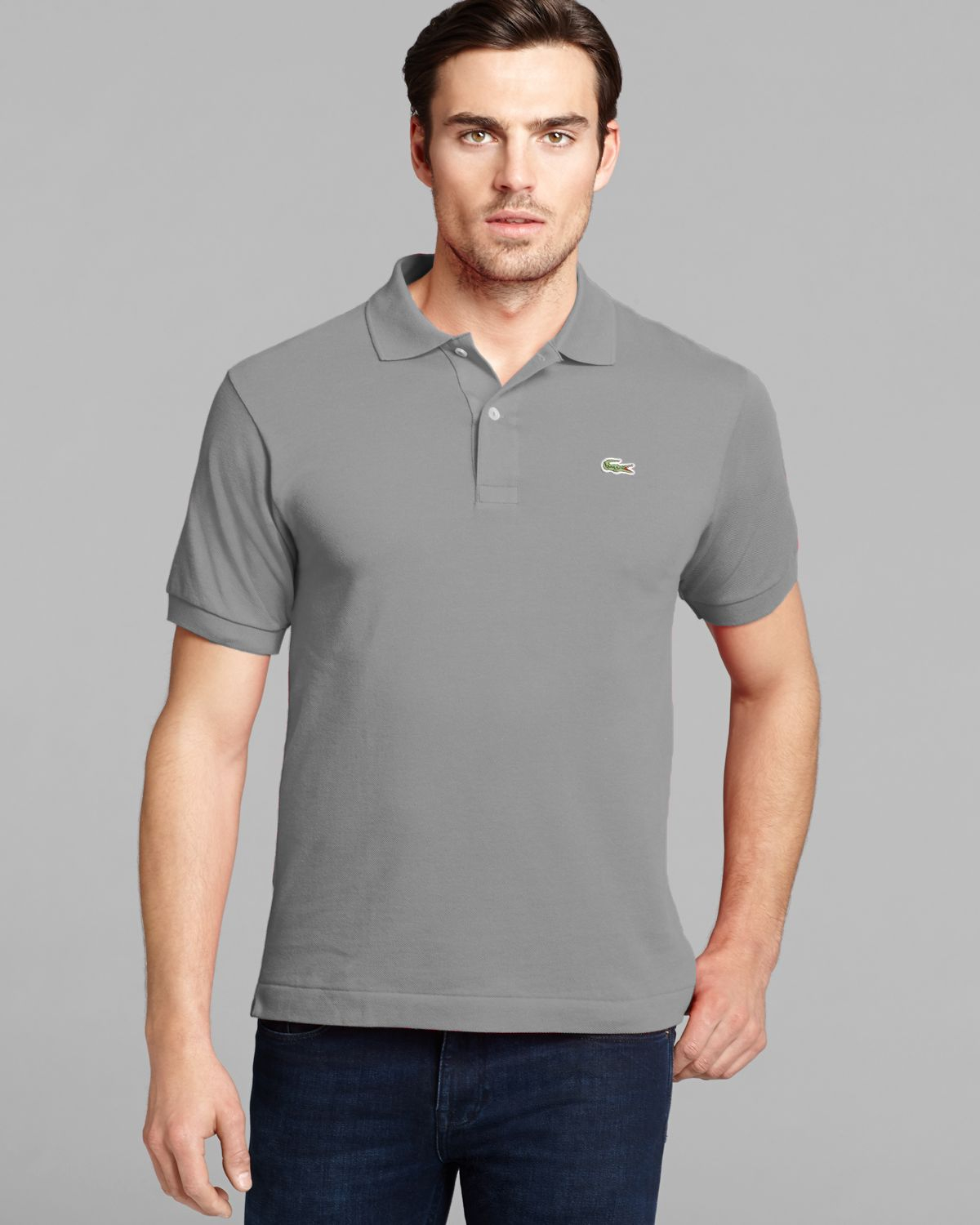 Lacoste Classic Short Sleeve Piqu 233 Polo Shirt In Gray For